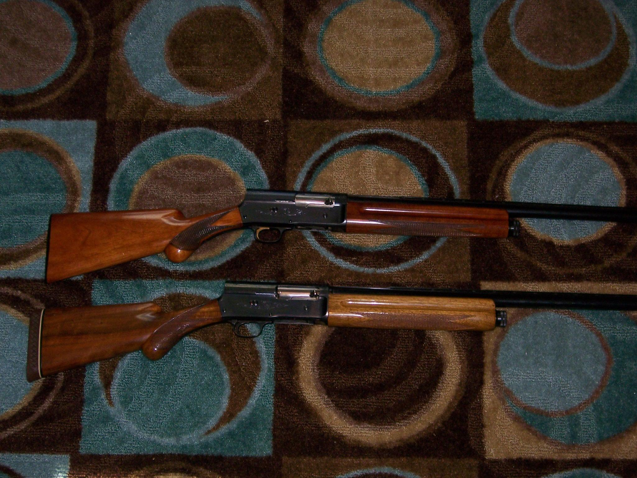2 Browning Belguim A-5 For sale  Guns > Shotguns > Browning Shotguns > Autoloaders > Hunting