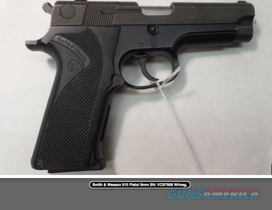 Smith & Wesson 915 Pistol 9mm   Guns > Pistols > Smith & Wesson Pistols - Autos > Polymer Frame