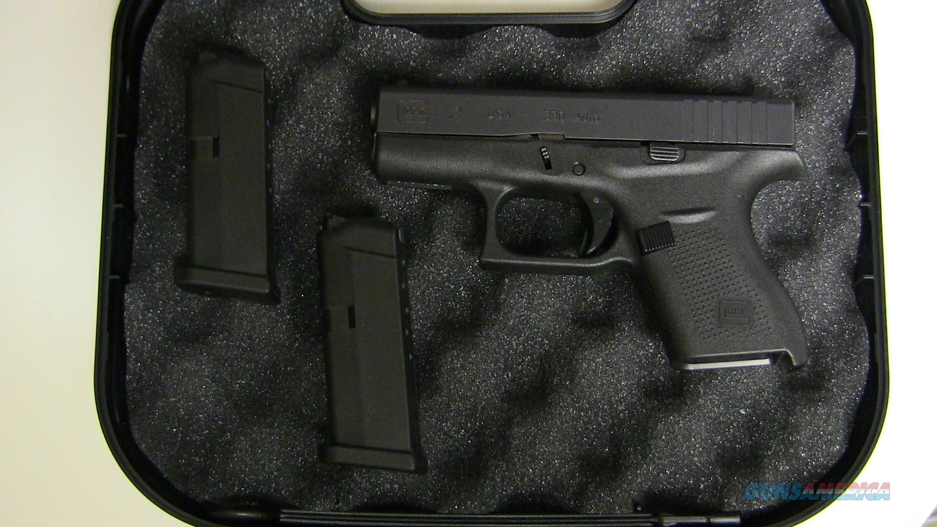 Glock 42 (.380 ACP) 6+1 with case and 2 mags  Guns > Pistols > Glock Pistols > 42