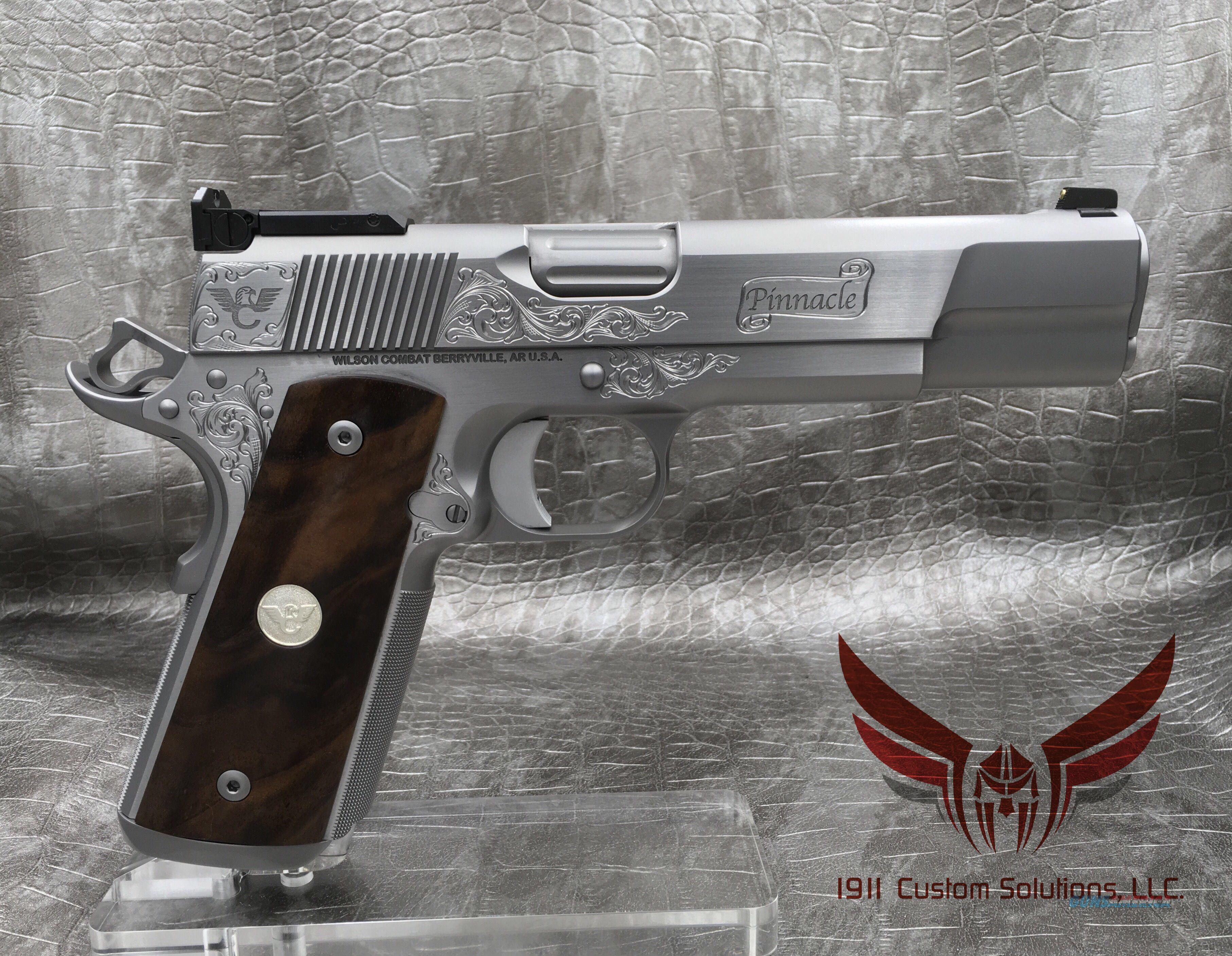Wilson Combat Pinnacle Supergrade 9MM - ALL STAINLESS STEEL  Guns > Pistols > Wilson Combat Pistols