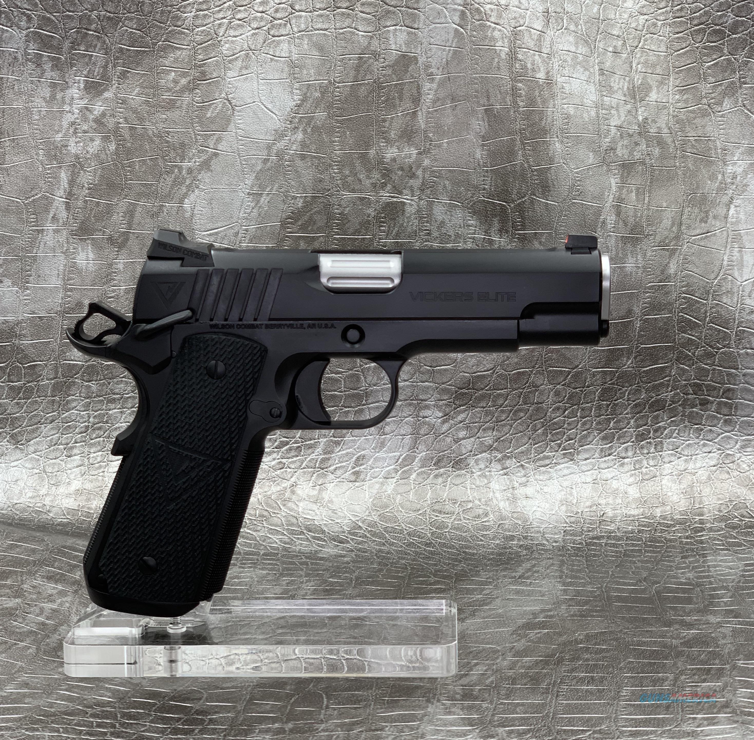 Wilson Combat Vicker's Elite Commander 9MM - Black Armor Tuff  Guns > Pistols > Wilson Combat Pistols
