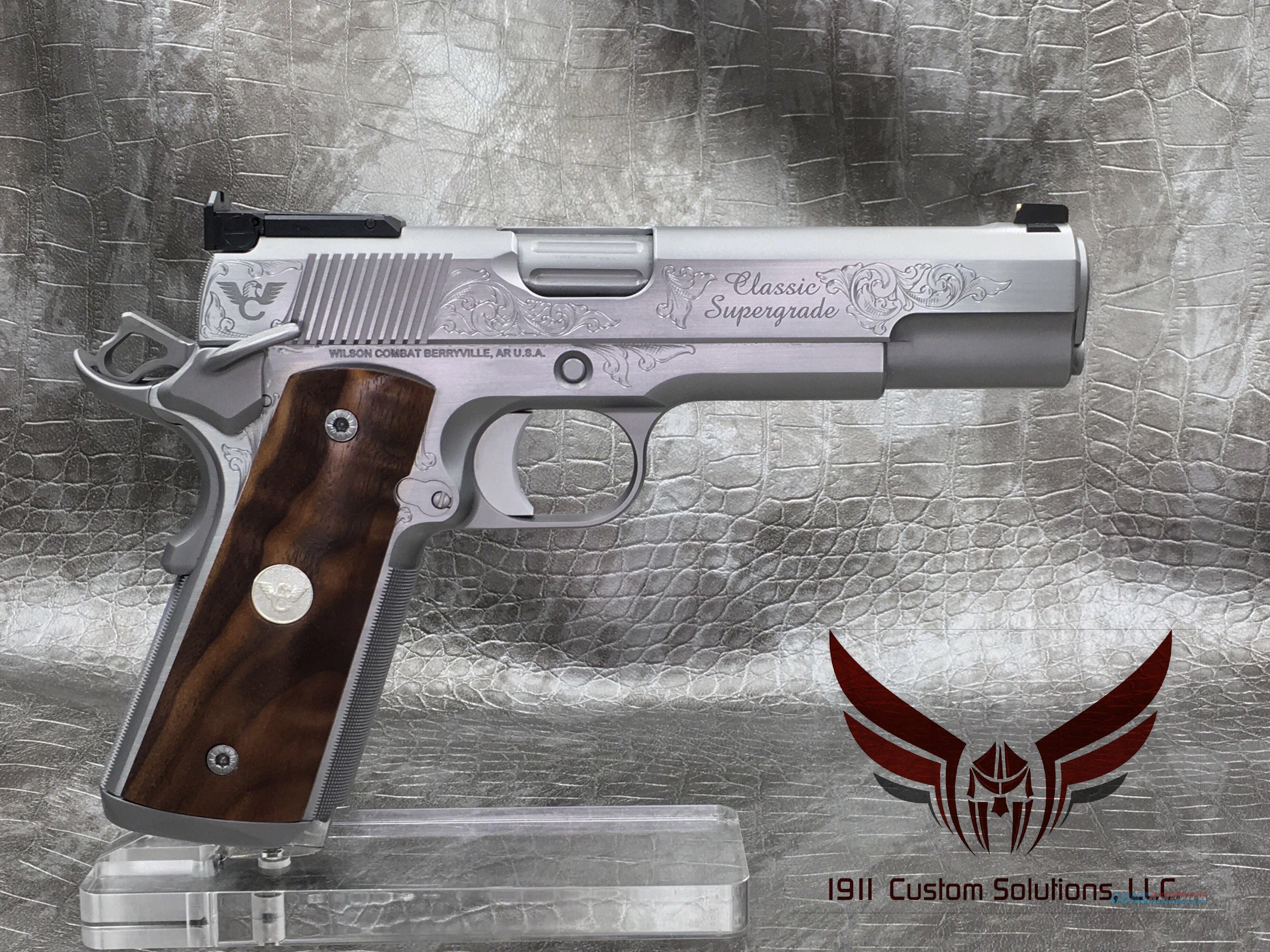 "Wilson Combat Classic Supergrade 5"" .45acp - All Stainless Steel with Matte Bead Blast Finish and Polished Sides of Slide and Frame  Guns > Pistols > Wilson Combat Pistols"