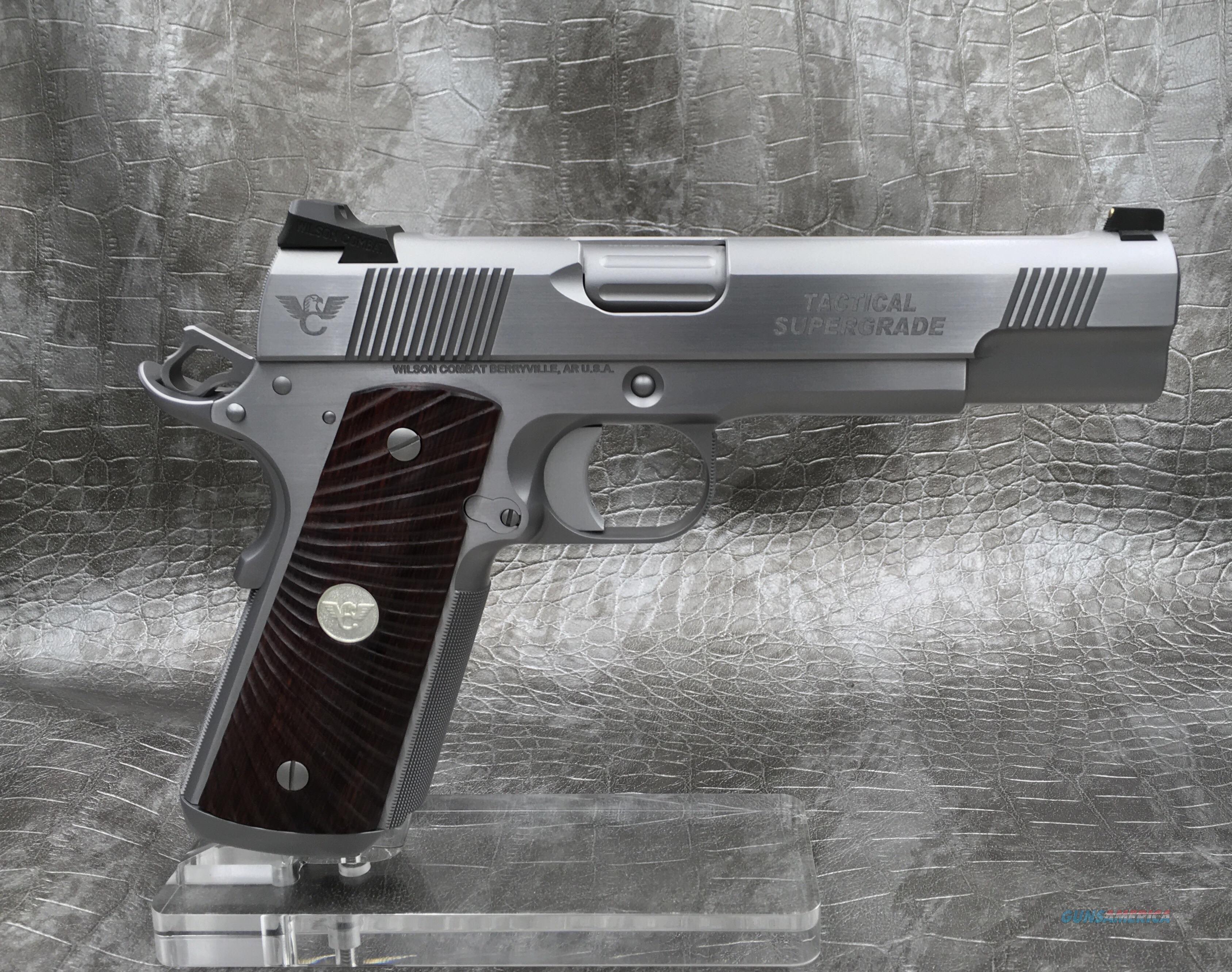 Wilson Combat Tactical Supergrade 9MM -ALL StAINLESS STEEL  Guns > Pistols > Wilson Combat Pistols