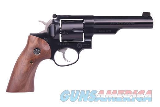 "RUGER GP100 10MM BLUE 5"" HALF LUG 1781 ADJ SGTS/WALNUT GRIPS 10MM   40 S&W  Guns > Pistols > Ruger Double Action Revolver > GP100"