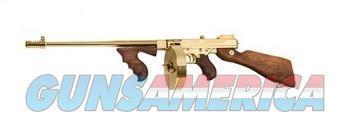 THOMPSON 1927A1 DLX 45ACP GOLD TITANIUM GOLD PLATED|50RD DRUM  Guns > Rifles > Auto Ordnance Rifles