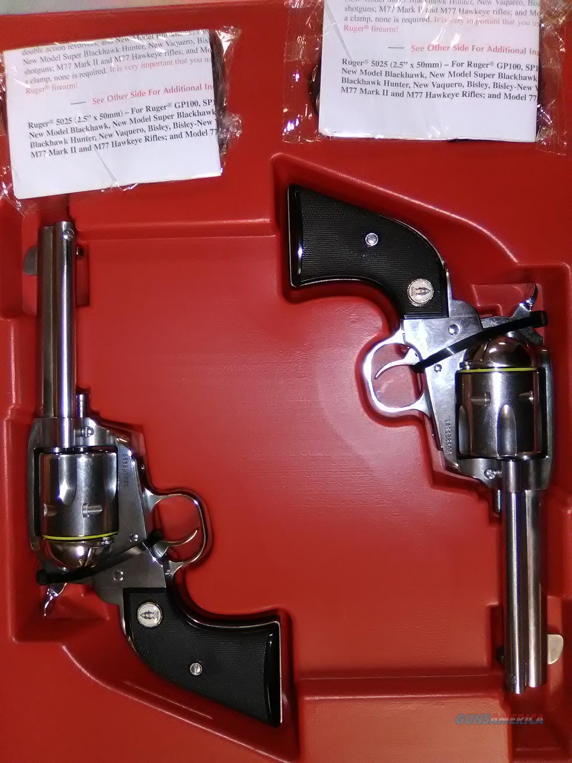 "VAQUERO 357MAG SS 4-5/8"" SASS 5133 SOLD IN CONSECUTIVE PAIRS  Guns > Pistols > Ruger Single Action Revolvers > Cowboy Action"