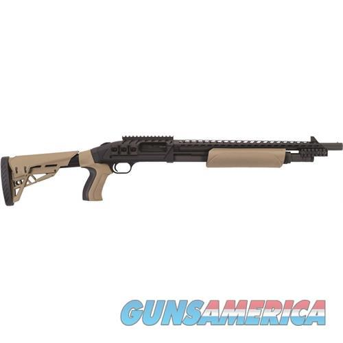 MOSSBERG 500 SCORPION 12/18.5 BL/FDE FDE FURNITURE|RAIL/HEATSHIELD  Guns > Shotguns > Mossberg Shotguns > Pump > Tactical