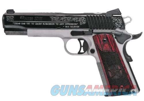 SIG SAUER 1911 45ACP TEXAS SILVER BL/SS 1911-45-TXS ENGRVD GRIPS/SLIDE  Guns > Pistols > Sig - Sauer/Sigarms Pistols > 1911