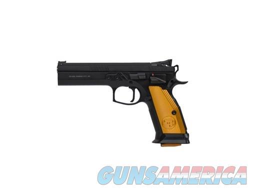 "CZ-USA 75 TACT ORANGE 9MM 20+1 5.4"" ORANGE GRIPS|THREE 20RD MAGS 9mm  Guns > Pistols > CZ Pistols"
