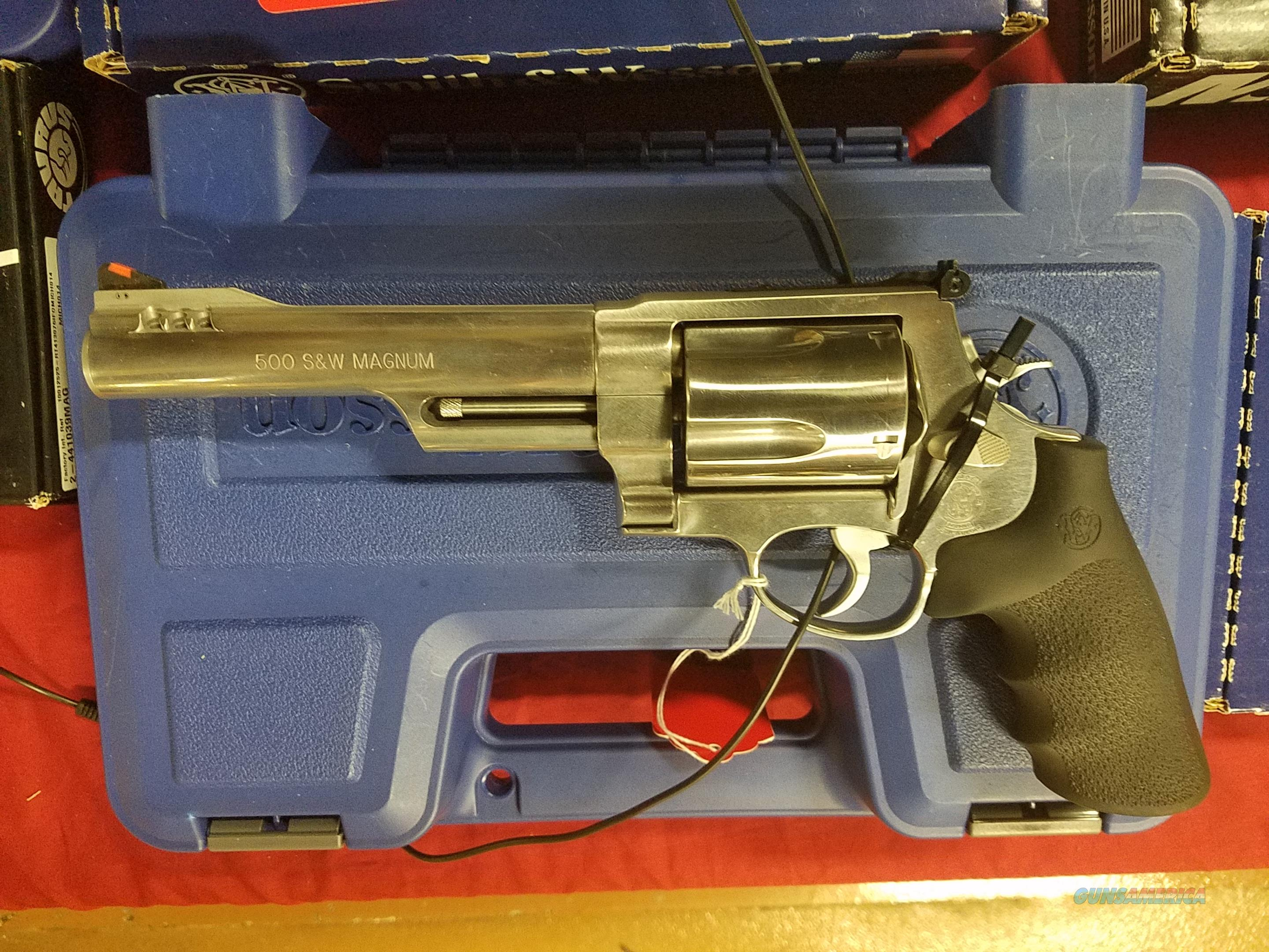 SMITH AND WESSON 500 500 S&W MAGNUM  Guns > Pistols > Smith & Wesson Revolvers > Full Frame Revolver