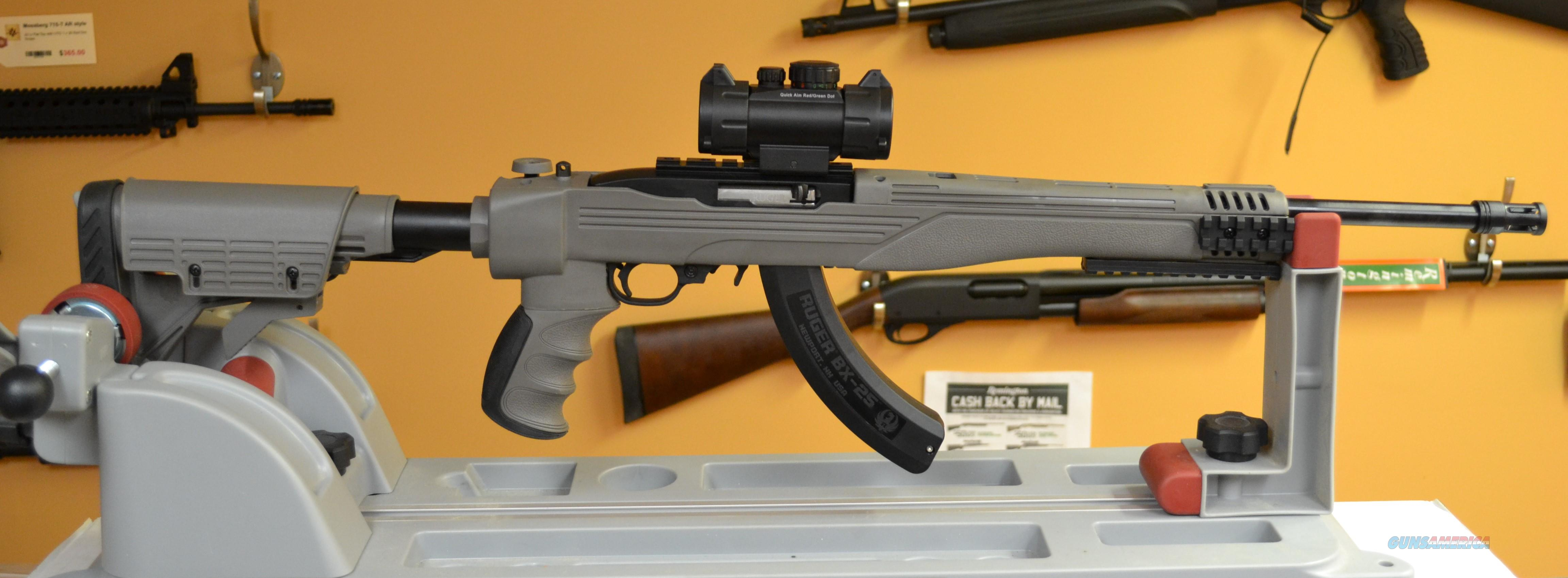 RUGER® 10/22® TACTICAL  ATI Destroyer Gray With 3X  Red- Green Dot Scope  Guns > Rifles > Ruger Rifles > 10-22