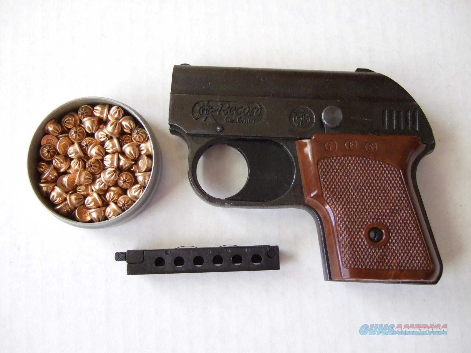 semi-auto starter pistol + can of blank ammo, 22cal. 6mm, blanks, record-german mfg. noFFL  Non-Guns > Launchers - Non Lethal