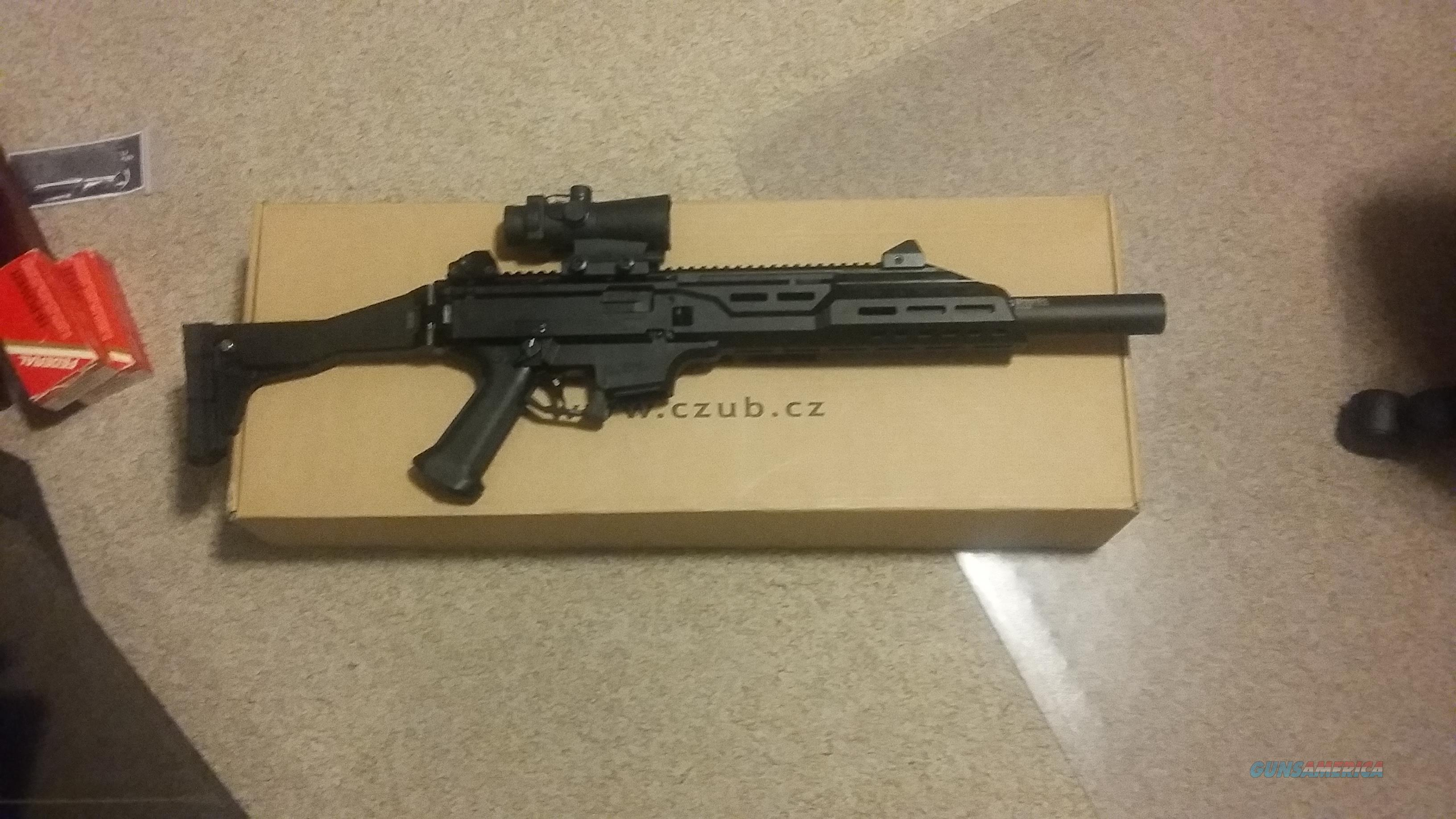 CZ Evo Scorpion carbine faux suppressor optic  Guns > Rifles > CZ Rifles