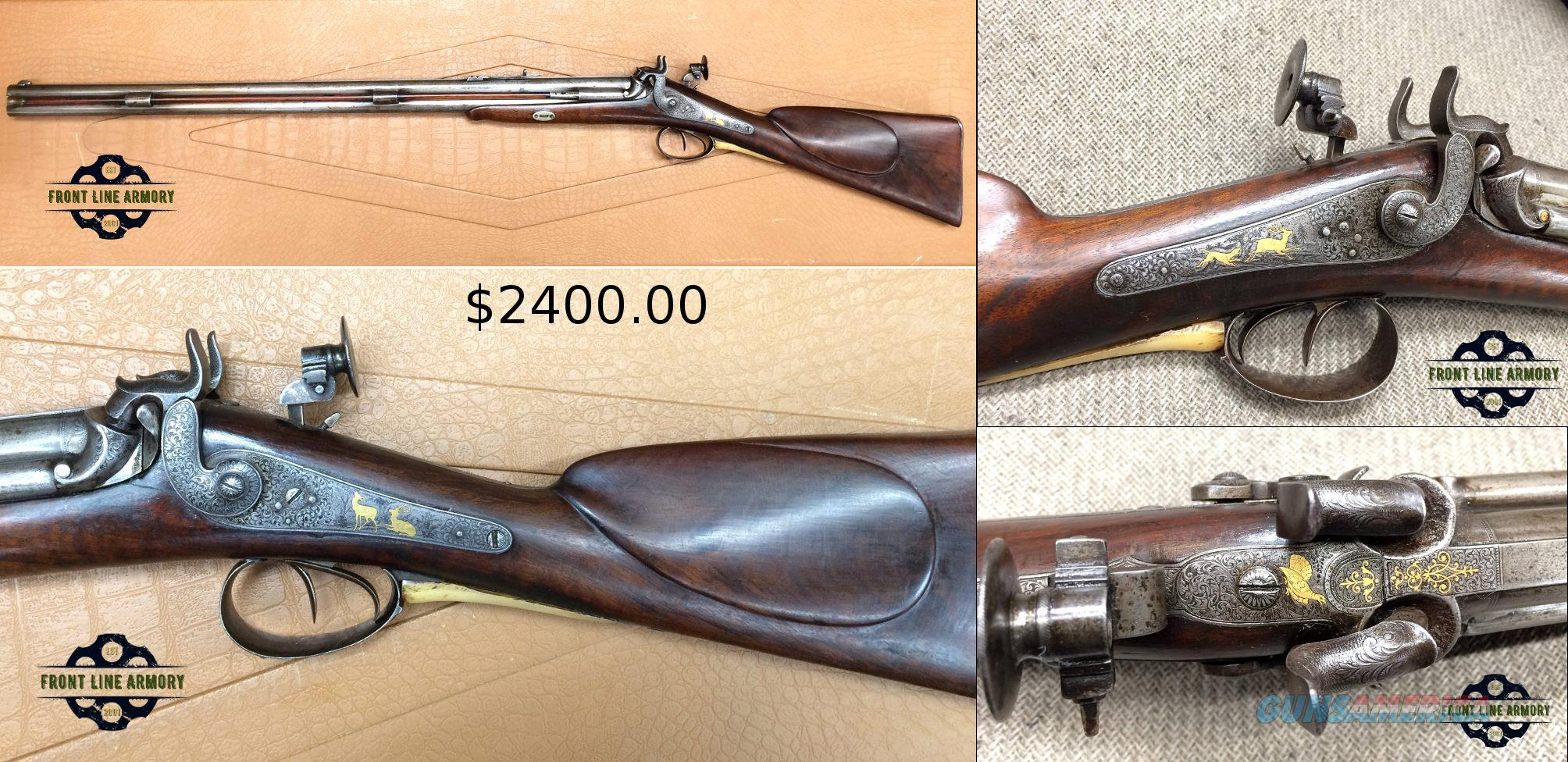 1800's European made Percussion .45cal over 20Ga.  Guns > Rifles > Antique (Pre-1899) Rifles - Perc. Misc.