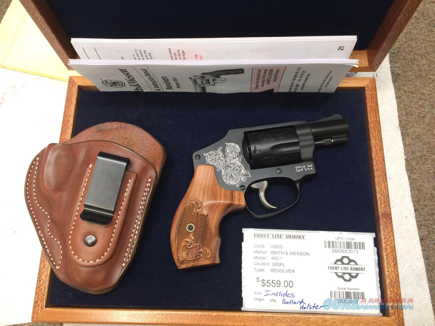 Smith & Wesson 442 limited edition factory engraved w/display box and custom holster  Guns > Pistols > Smith & Wesson Revolvers > Small Frame ( J )