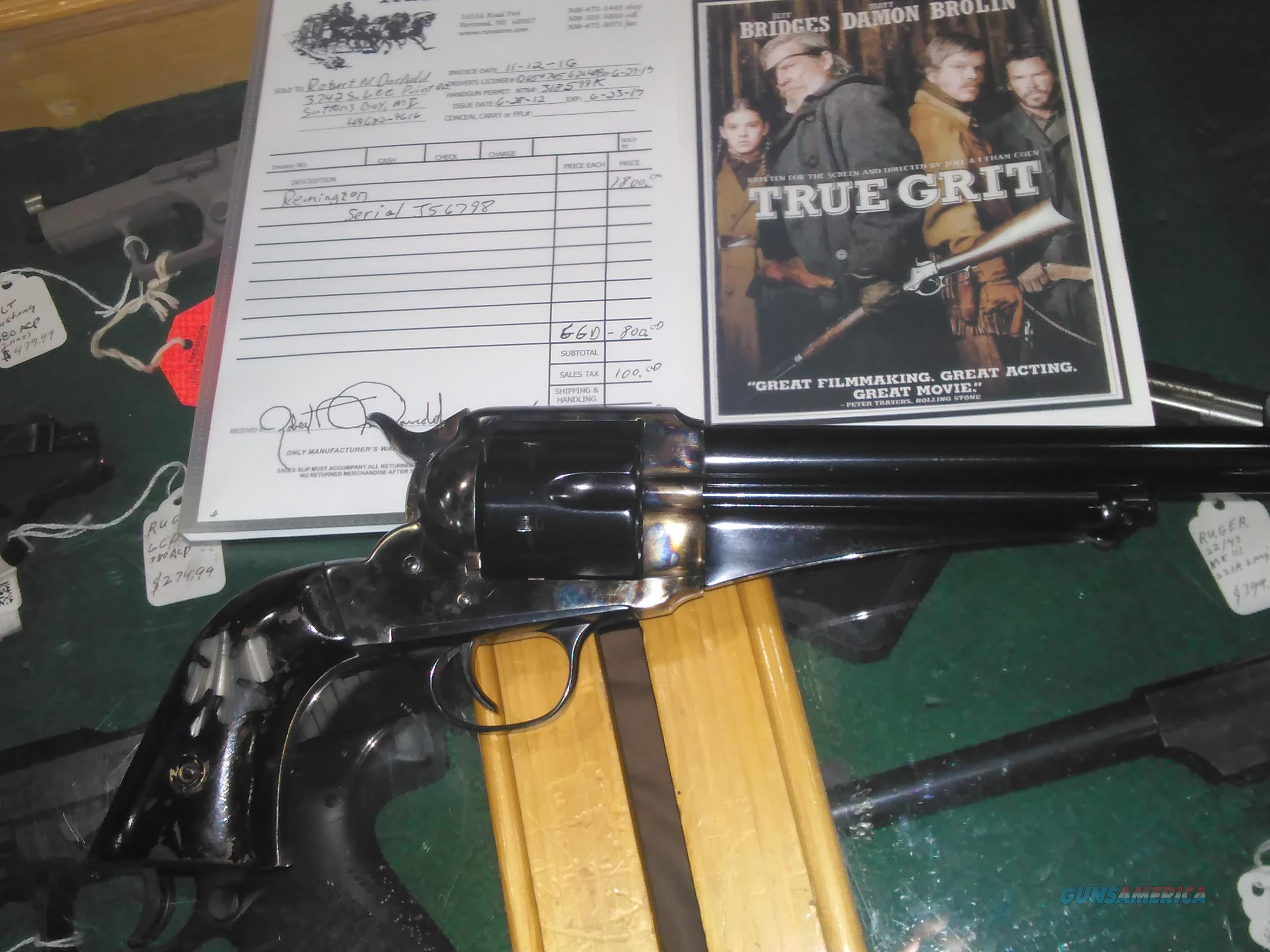 True Grit custom Lucky Ned Pepper 45 Long Colt  Guns > Pistols > Cowboy Action Pistol Misc.