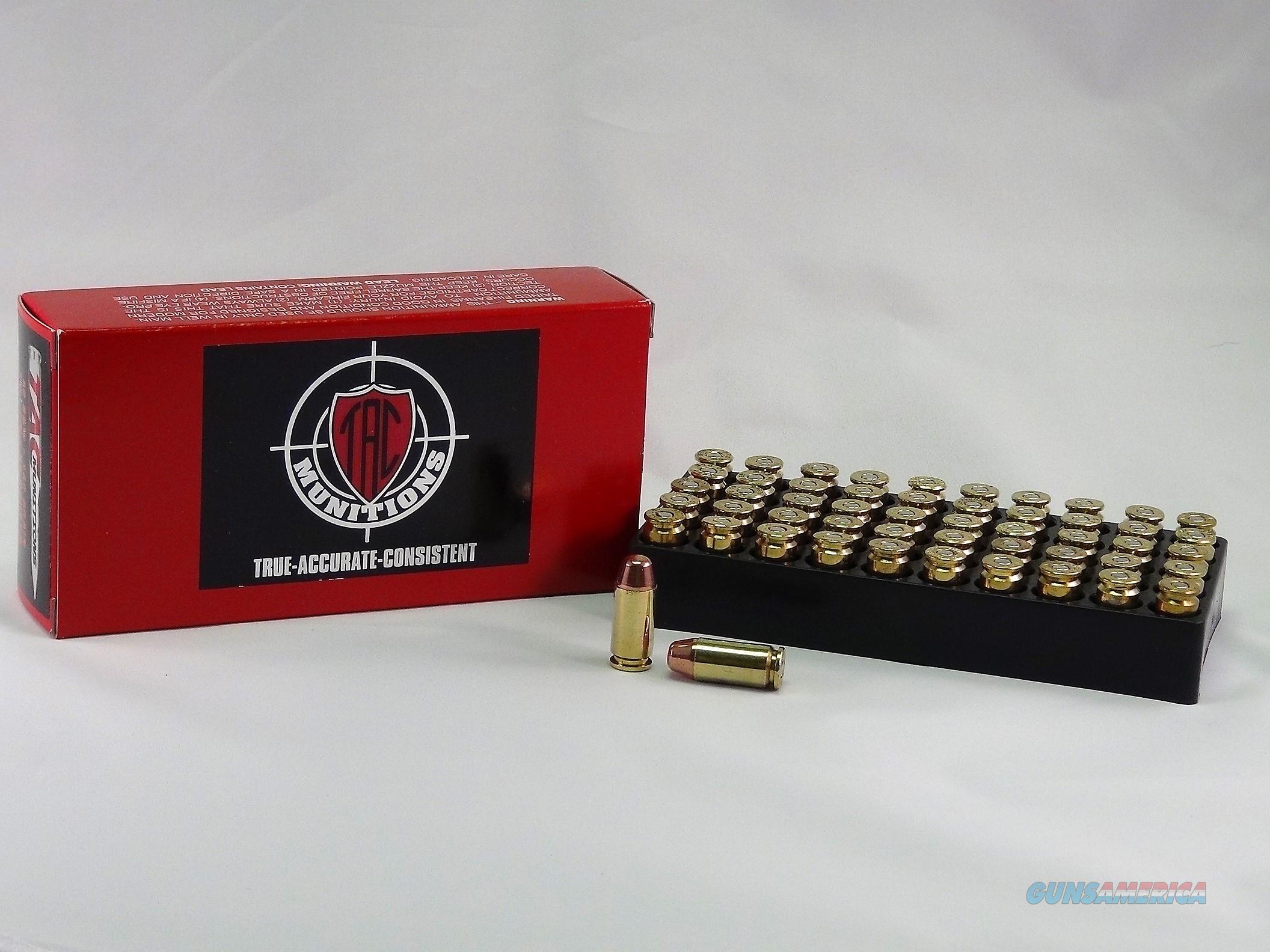 TAC Ammo 40 S&W 180 Grain TMJ-RN with once fired brass- 50 Round Box  Non-Guns > Ammunition