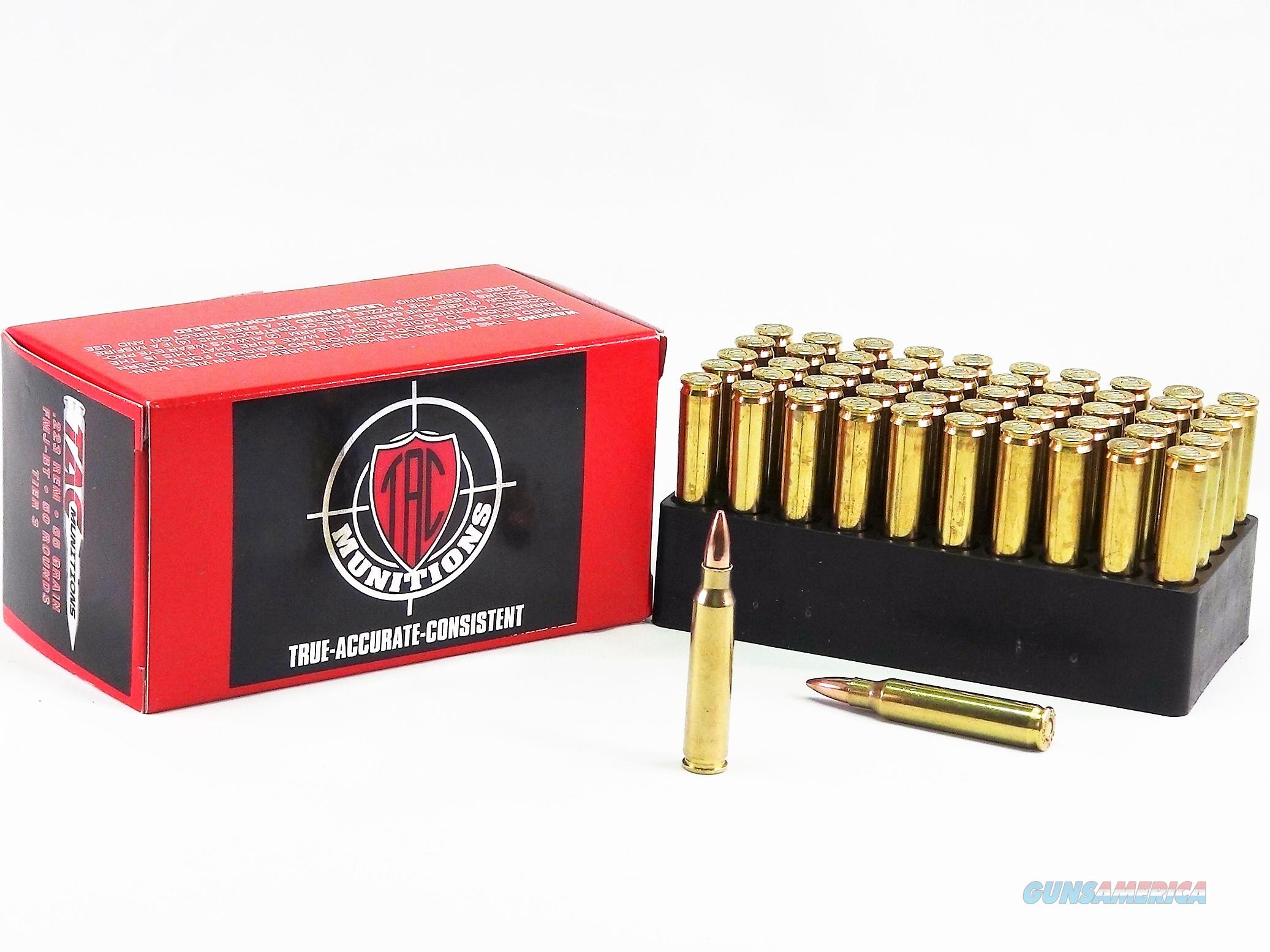 TAC Ammo .223 FMJ-BT 55grain - 50 Rounds  Non-Guns > Ammunition