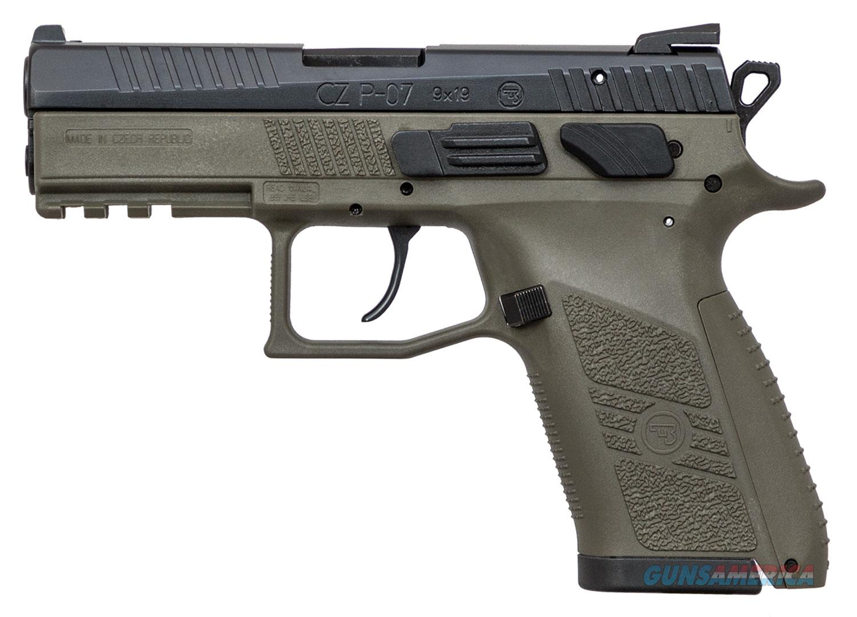 CZ P-07 OD Green 9mm NS 15+1 Layaway NoCCFee 91077  Guns > Pistols > CZ Pistols