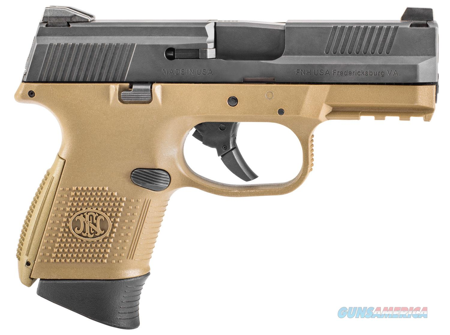 """FNS-9C 9mm FDE/BLK 17+1 3.6"""" NMS Layaway NoCCFee  Guns > Pistols > FNH - Fabrique Nationale (FN) Pistols > FNS"""