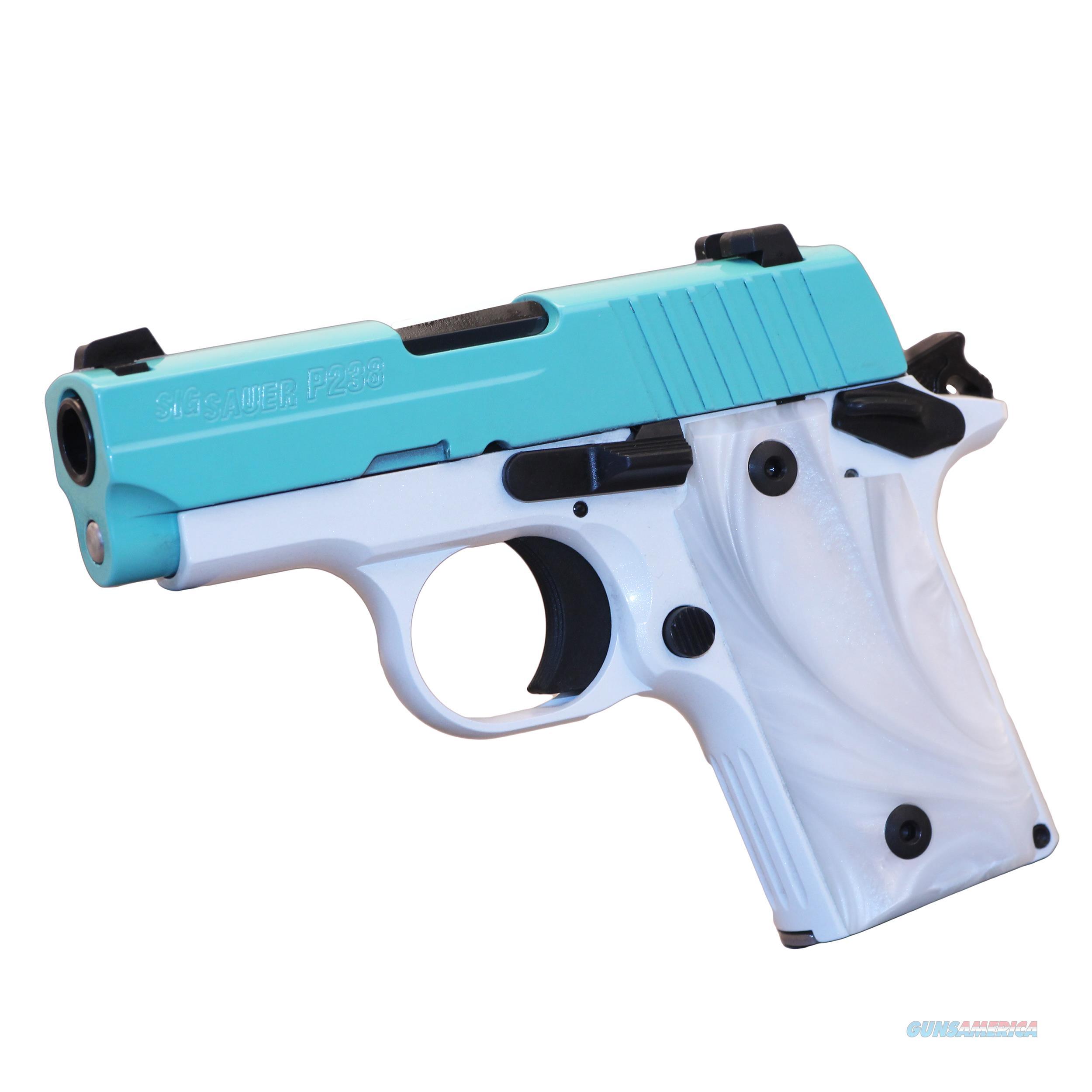 Sig Sauer P238 380ACP NS Pearl White Robins Egg Layaway NoCCFee  Guns > Pistols > Sig - Sauer/Sigarms Pistols > P238