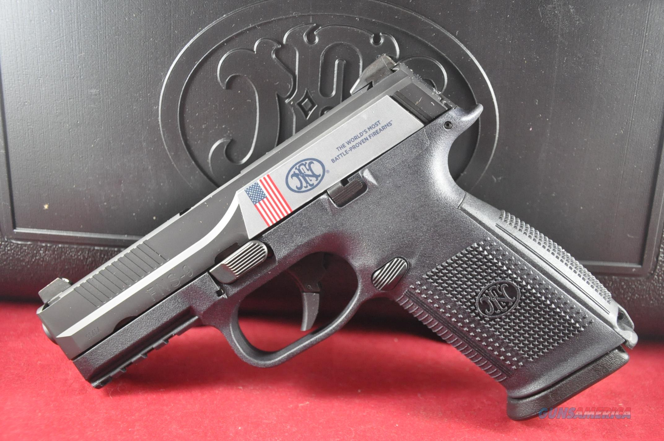"""FN FNS-9 9mm Black 17+1 4"""" Night Sights 3Mags Layaway NoCCFee  Guns > Pistols > FNH - Fabrique Nationale (FN) Pistols > FNS"""