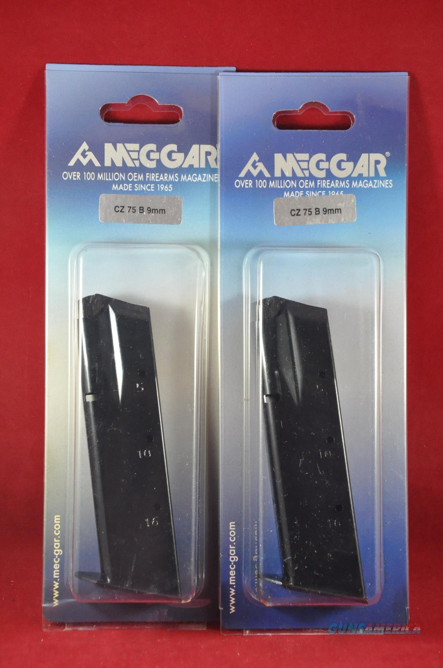 2 Pack MEC-GAR CZ75 9MM 16RD Magazine NoCCFee MGCZ7516B  Non-Guns > Magazines & Clips > Pistol Magazines > Other