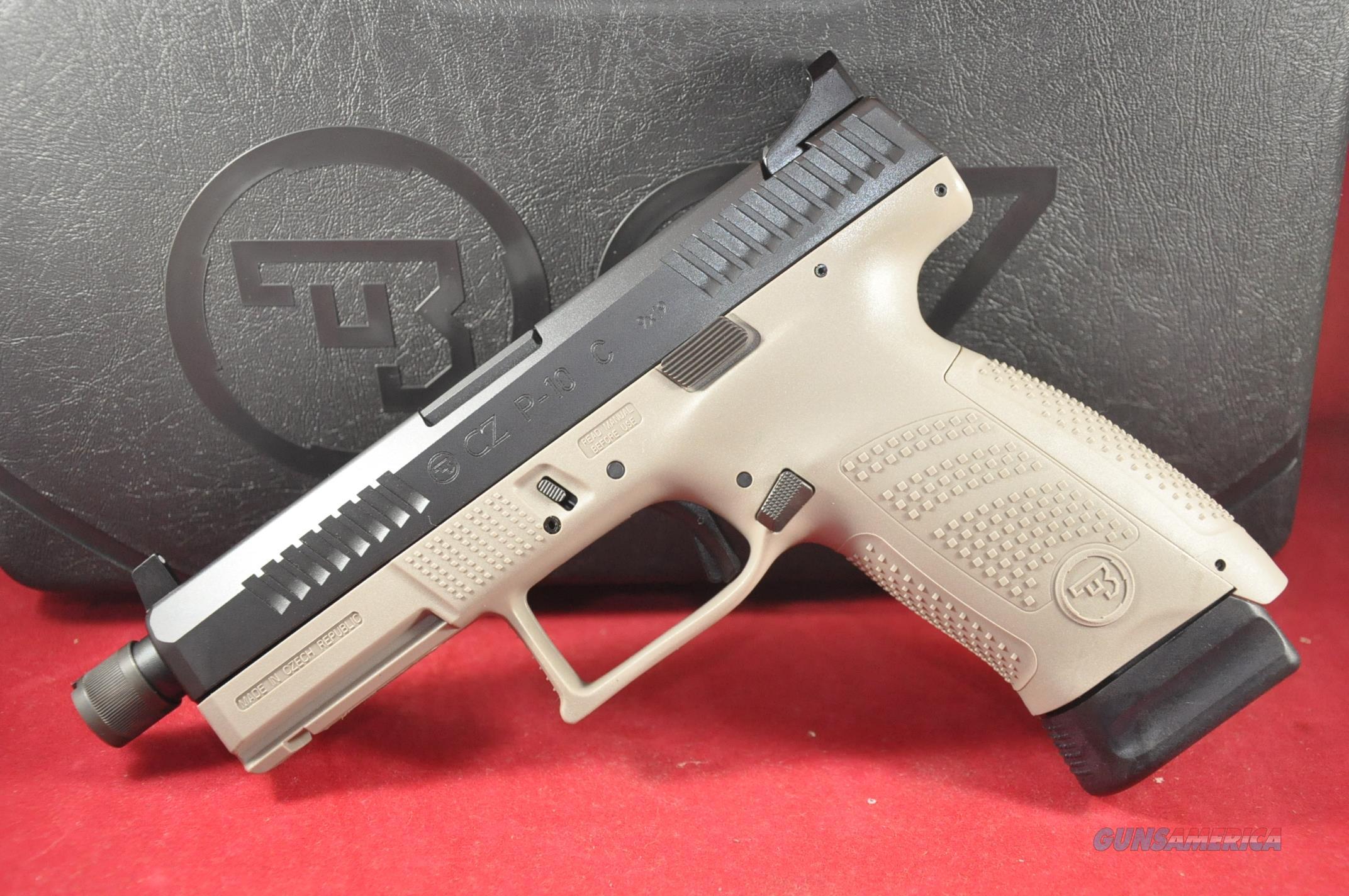 CZ P10 9mm Urban Grey TB NS 17+1 Layaway NoCCFee 91519 P-10 Compact  Guns > Pistols > CZ Pistols