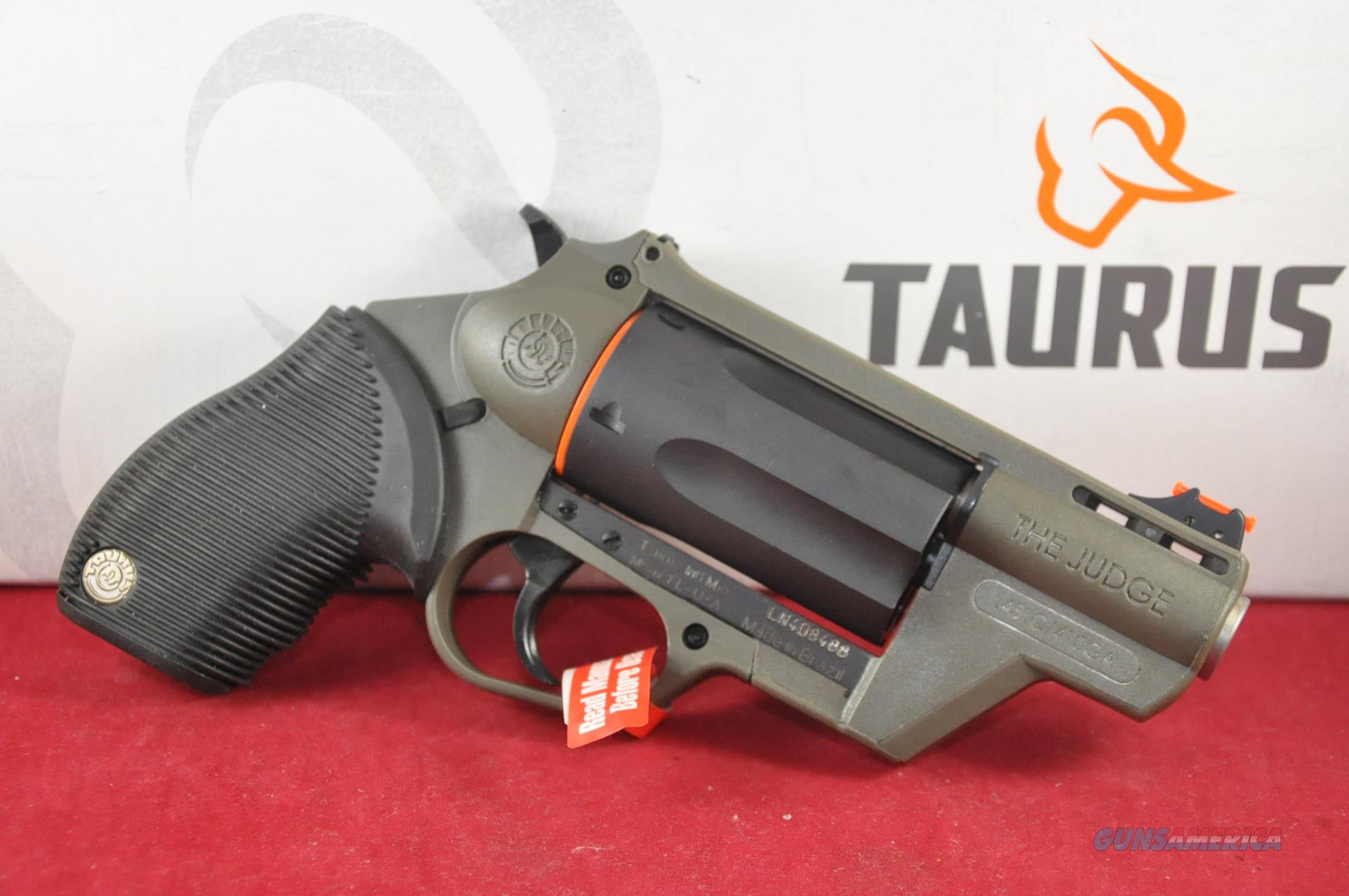 Taurus Judge Pub Def Poly OD Green Layaway NoCCFee  Guns > Pistols > Taurus Pistols > Revolvers