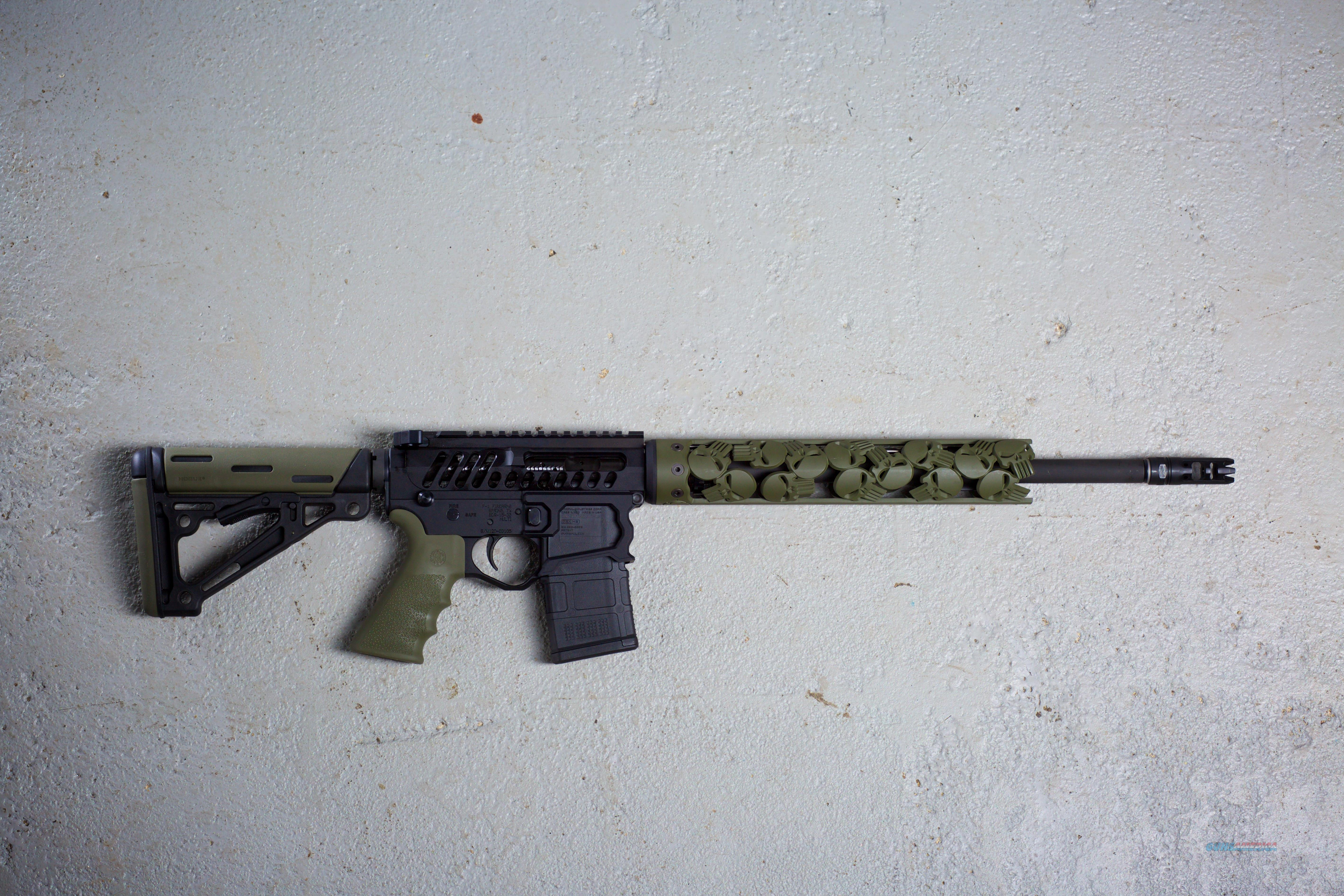F-1 Firearms Rollin' Punisher AR-15 - Punisher Handguard - Skeletonized  Guns > Rifles > AR-15 Rifles - Small Manufacturers > Complete Rifle