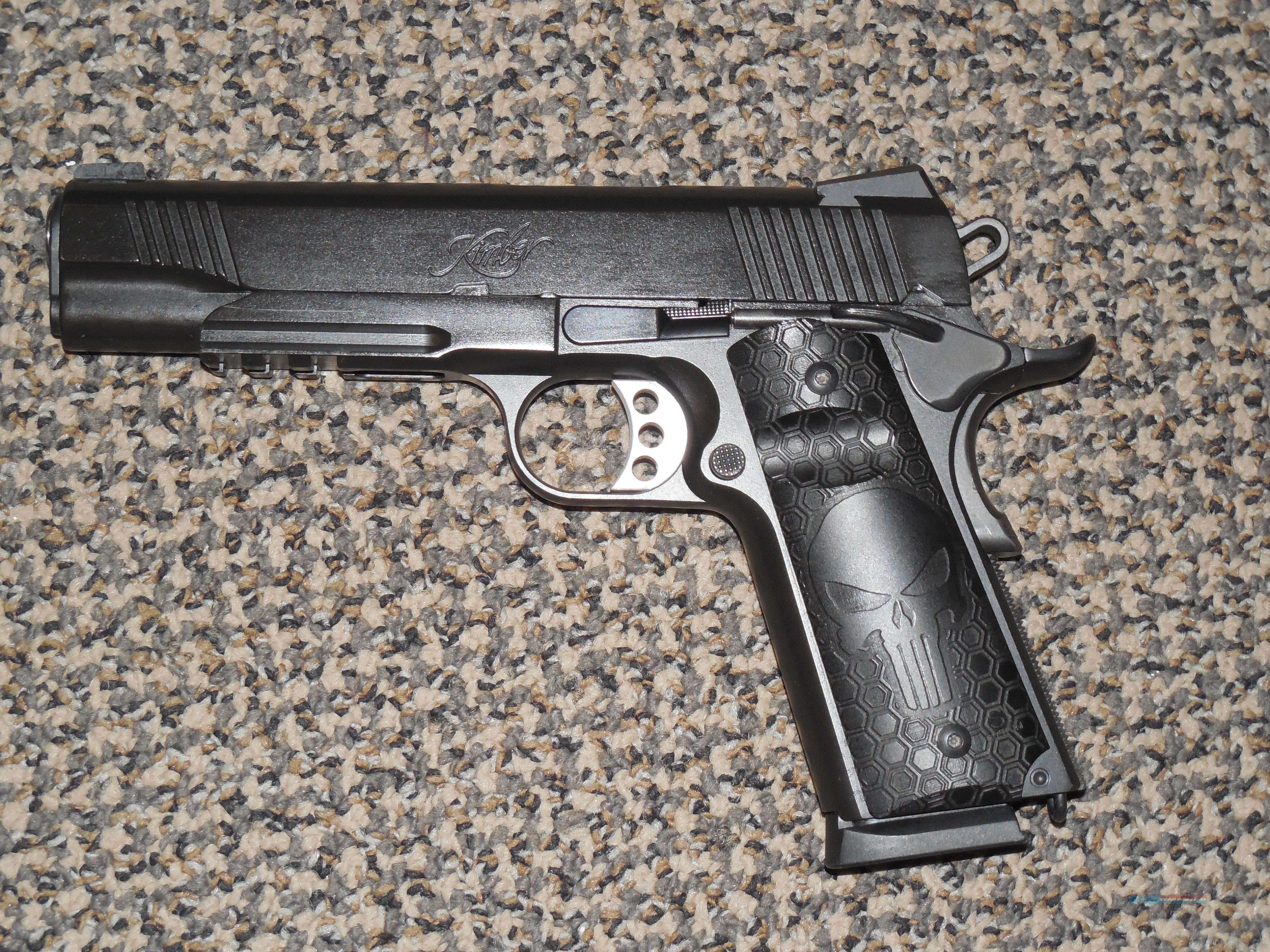 "KIMBER ""WARRIOR"" 1911 PISTOL IN .45 ACP WITH ""PUNISHER"" GRIPS AND NIGHT SIGHTS  Guns > Pistols > Kimber of America Pistols > 1911"