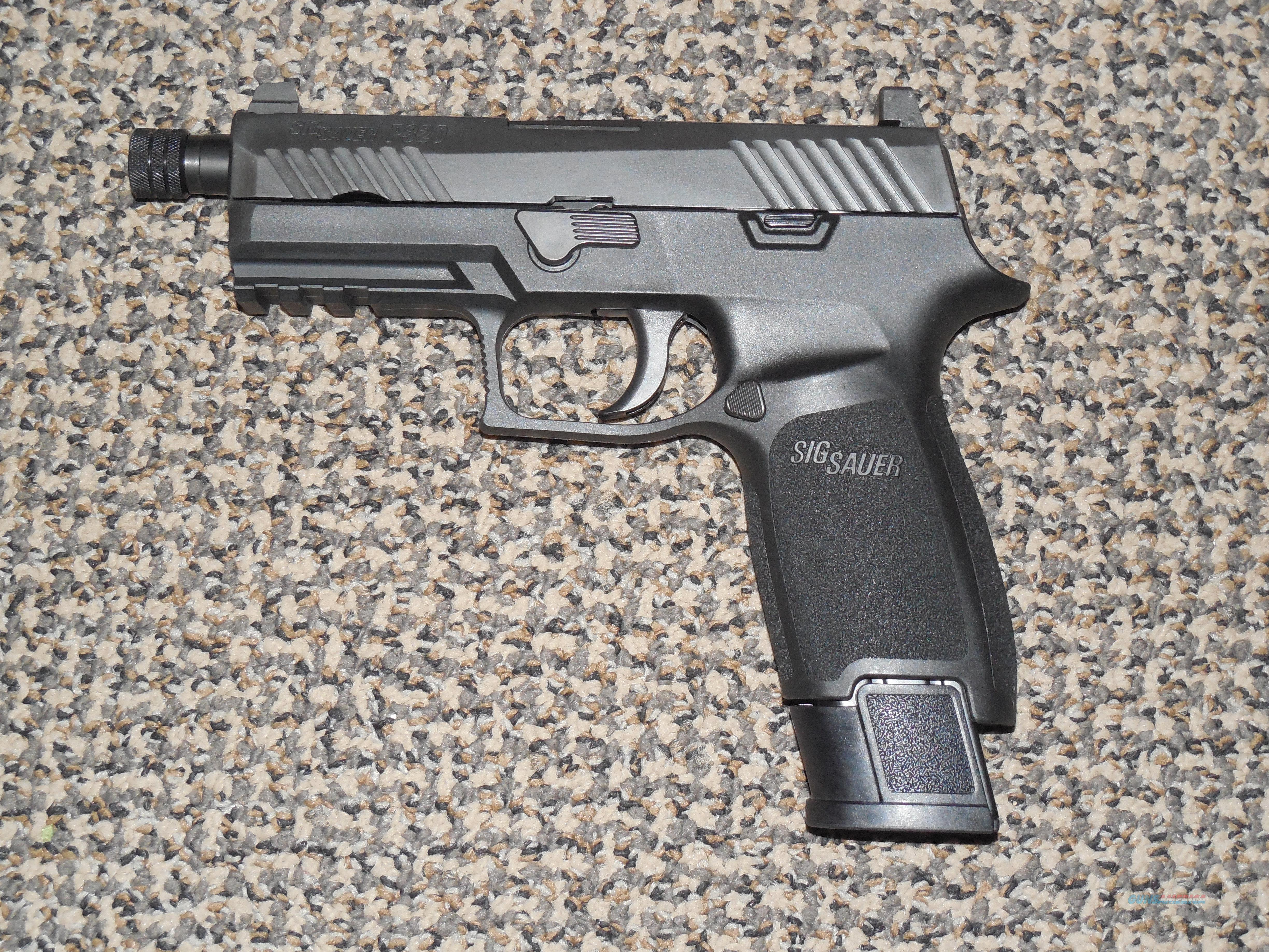 SIG SAUER P-320 TACOPS 9 MM WITH FOUR  21-RD MAGAZINES, HIGH NIGHT SIGHTS AND THREADED BARREL - REDUCED  Guns > Pistols > Sig - Sauer/Sigarms Pistols > P320