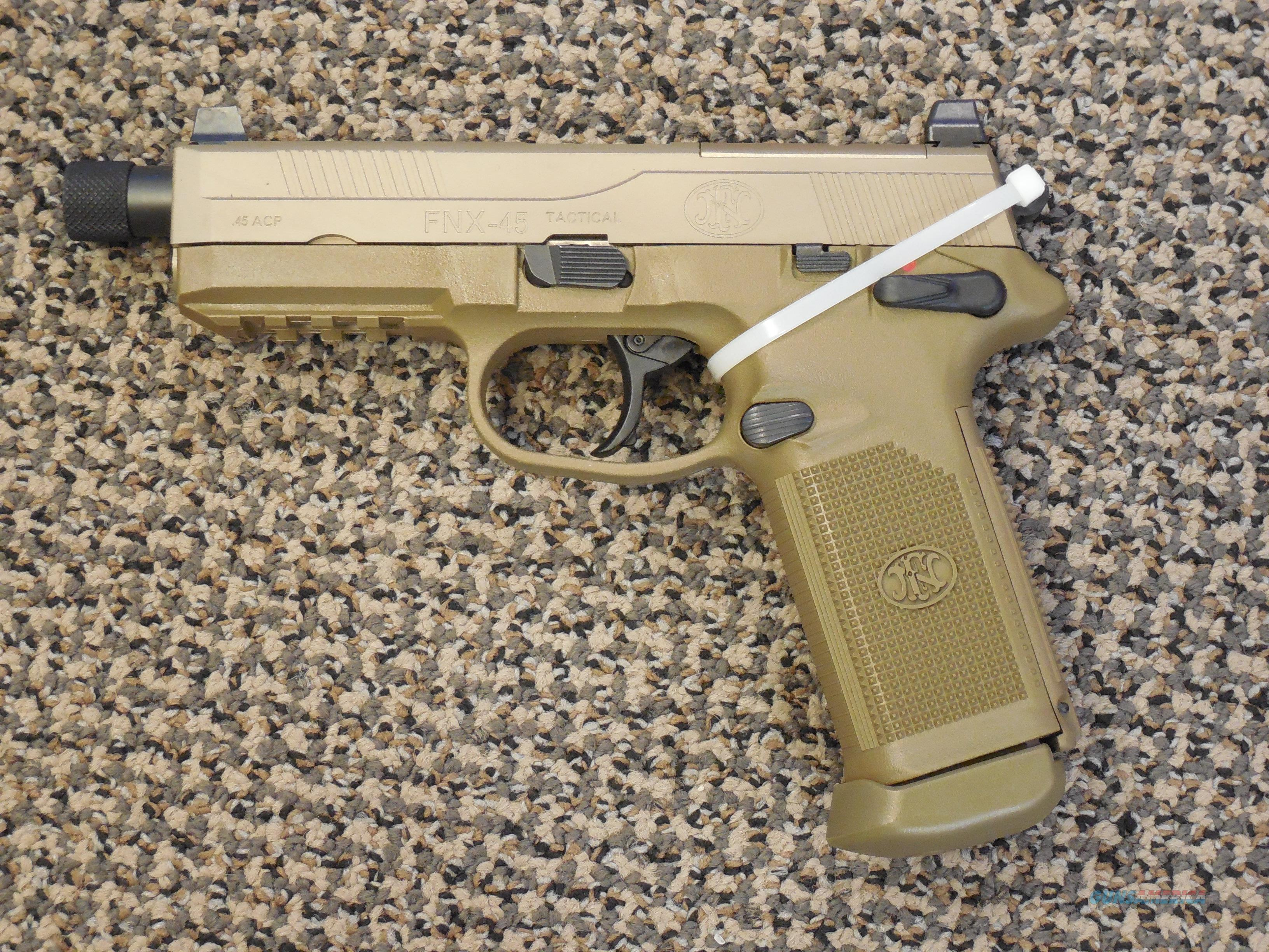 FnH MODEL FNX-45 TACTICAL PISTOL FINISHED IN FDE  Guns > Pistols > FNH - Fabrique Nationale (FN) Pistols > FNX