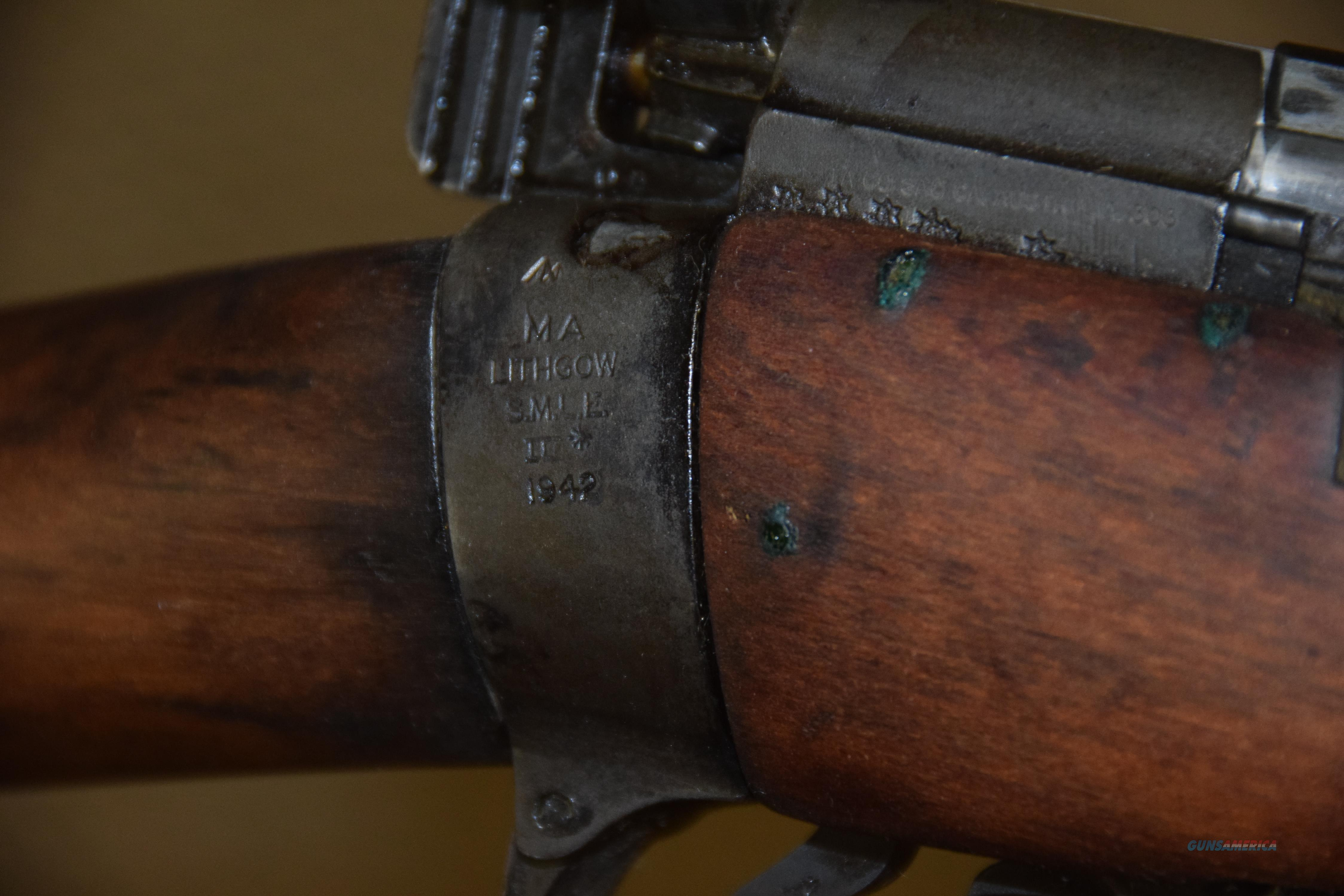 ENFIELD SMLE LITHGOW .303 RIFLE DATED 1942 -- REDUCED!  Guns > Rifles > Enfield Rifle