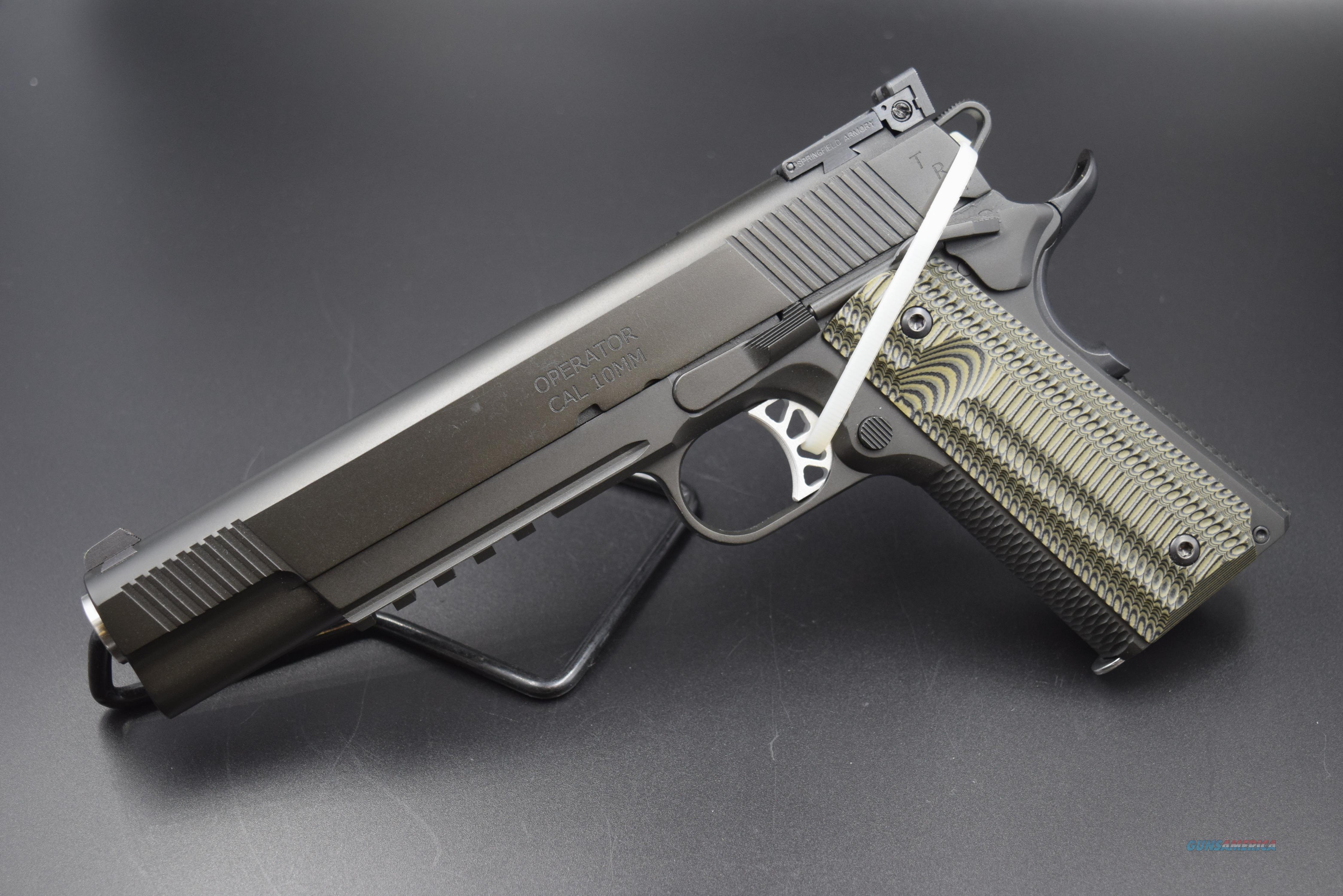 SPRINGFIELD ARMORY LONG-SLIDE (6-INCH) TRP OPERATOR in 10 MM - REDUCED!  Guns > Pistols > Springfield Armory Pistols > 1911 Type