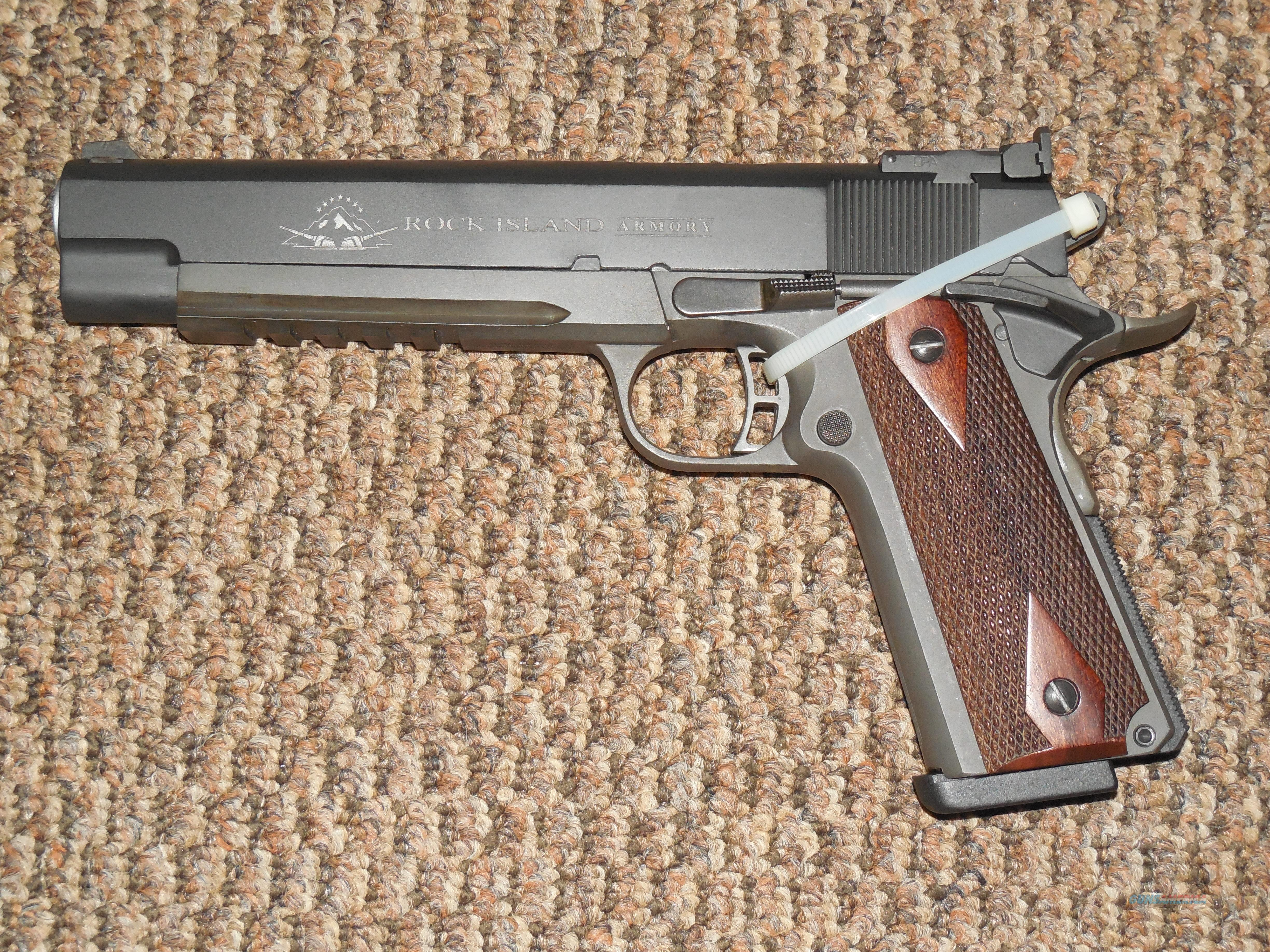 ROCK ISLAND 1911 TACTICAL 6-INCH .45 ACP PISTOL  Guns > Pistols > 1911 Pistol Copies (non-Colt)