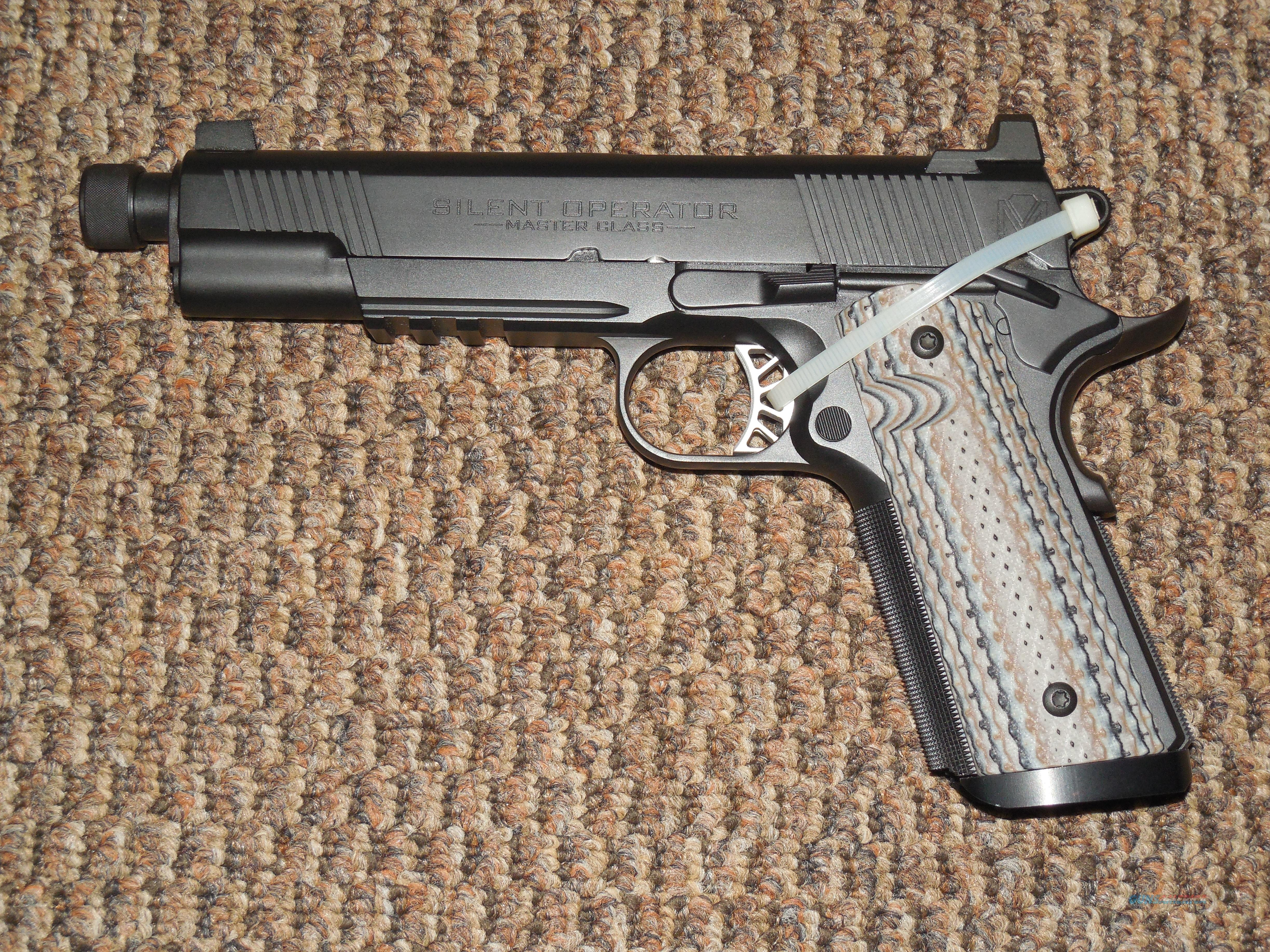 "SPRINGFIELD ARMORY 1911"" MASTER CLASS SILENT OPERATOR"" .45 ACP  Guns > Pistols > Springfield Armory Pistols > 1911 Type"