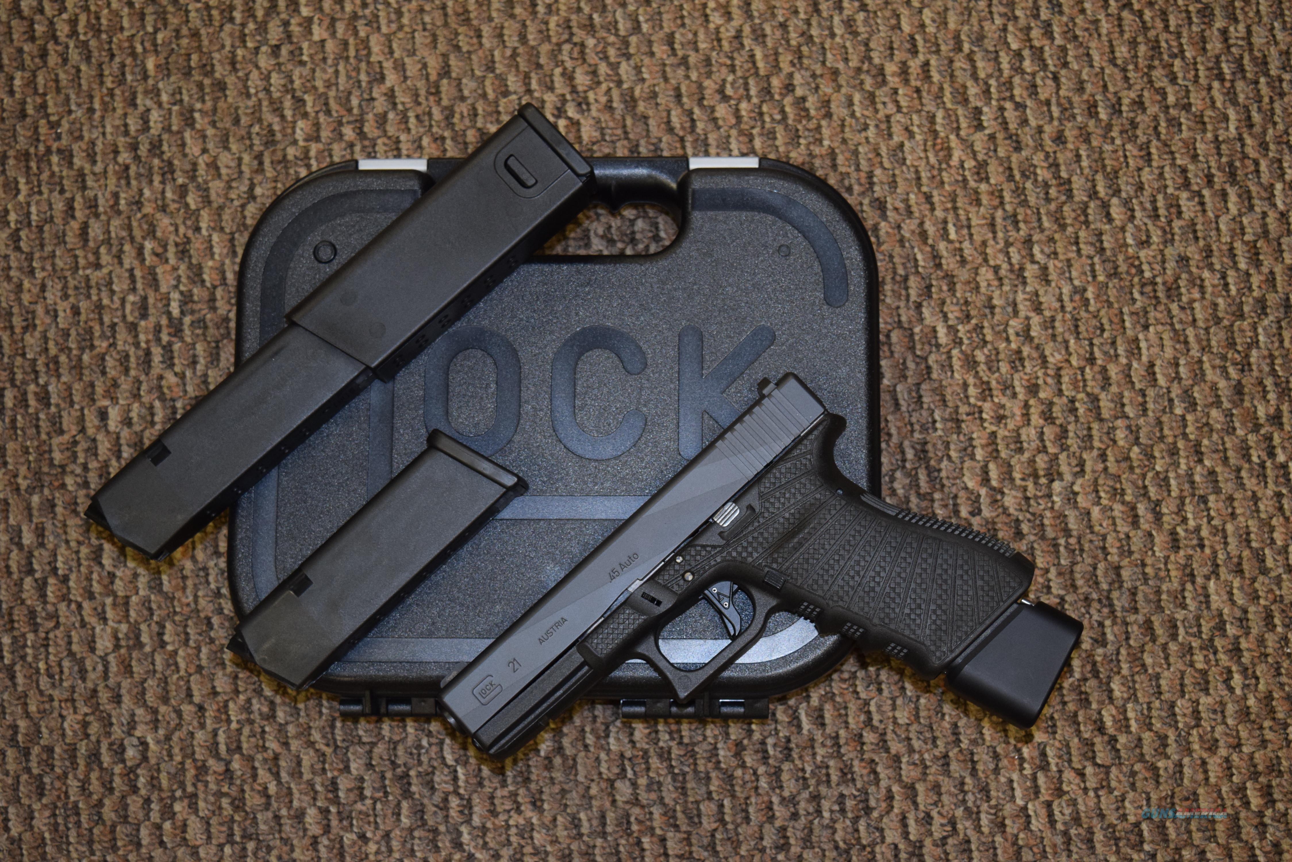 "GLOCK MODEL 21 CUSTOM .45 ACP ""ULTIMATE HOME DEFENSE OR HOG GUN"" -- REDUCED!!  Guns > Pistols > Glock Pistols > 20/21"