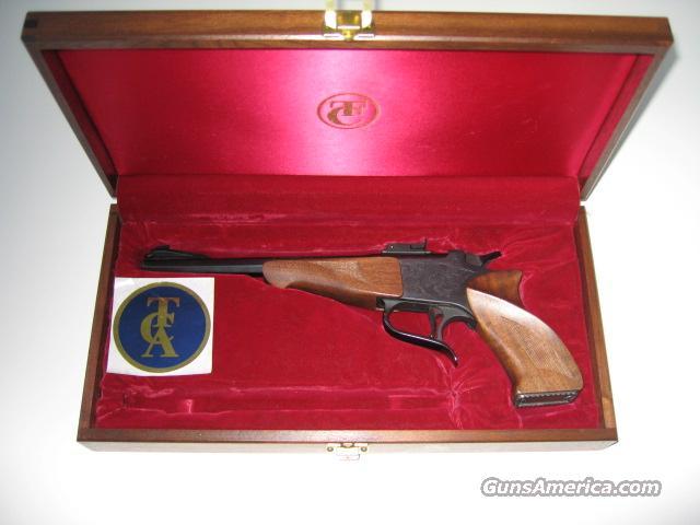 Early TC Contender, walnut case  Guns > Pistols > Thompson Center Pistols > Contender