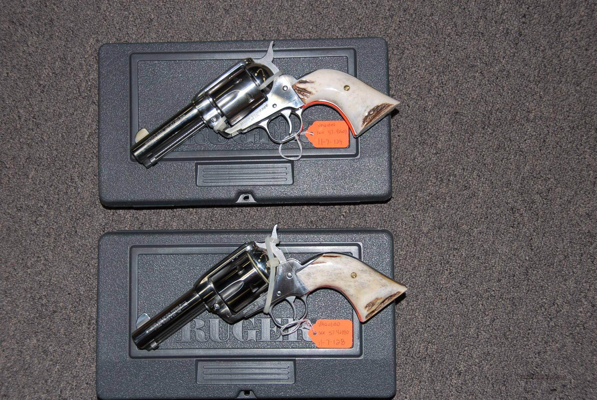 Special Vaqueros, 3-1/2 inch w/Stag grips...  Guns > Pistols > Ruger Single Action Revolvers > Cowboy Action
