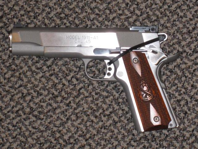Springfield Armory 1911A1 STAINLESS TARGET/LOADED  Guns > Pistols > Springfield Armory Pistols > 1911 Type