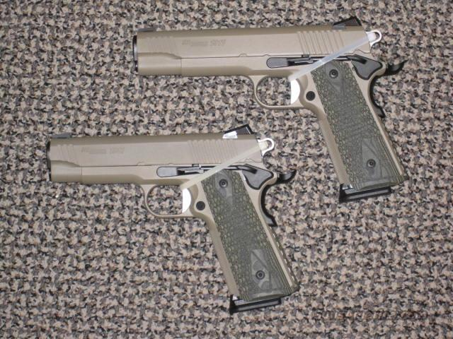 SIG SAUER 1911 SCORPION PISTOLS SOLD AS PAIR OR INDIVIDuALLY....  Guns > Pistols > Sig - Sauer/Sigarms Pistols > 1911
