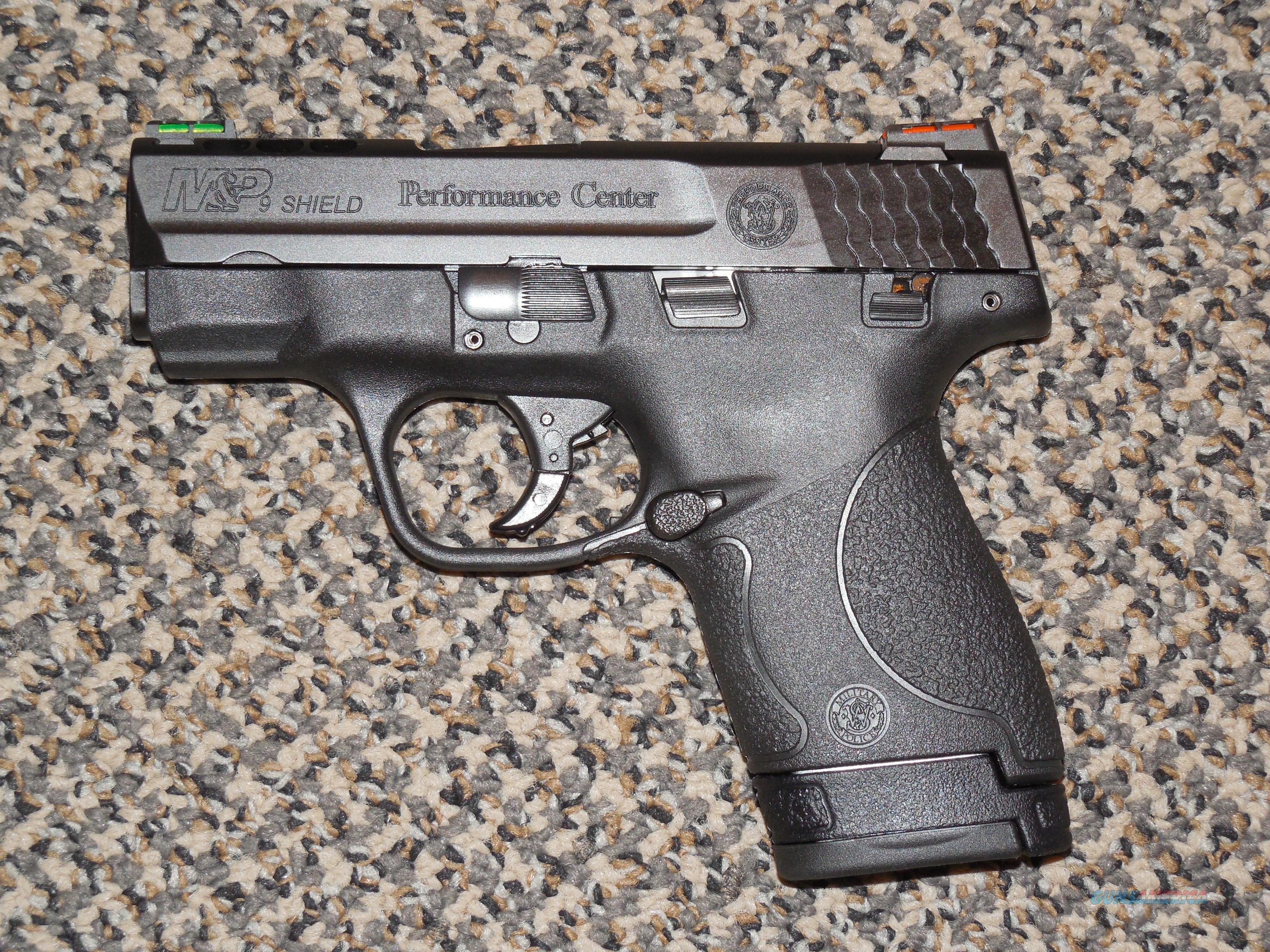 s w m p shield 9mm performance center ported pistol