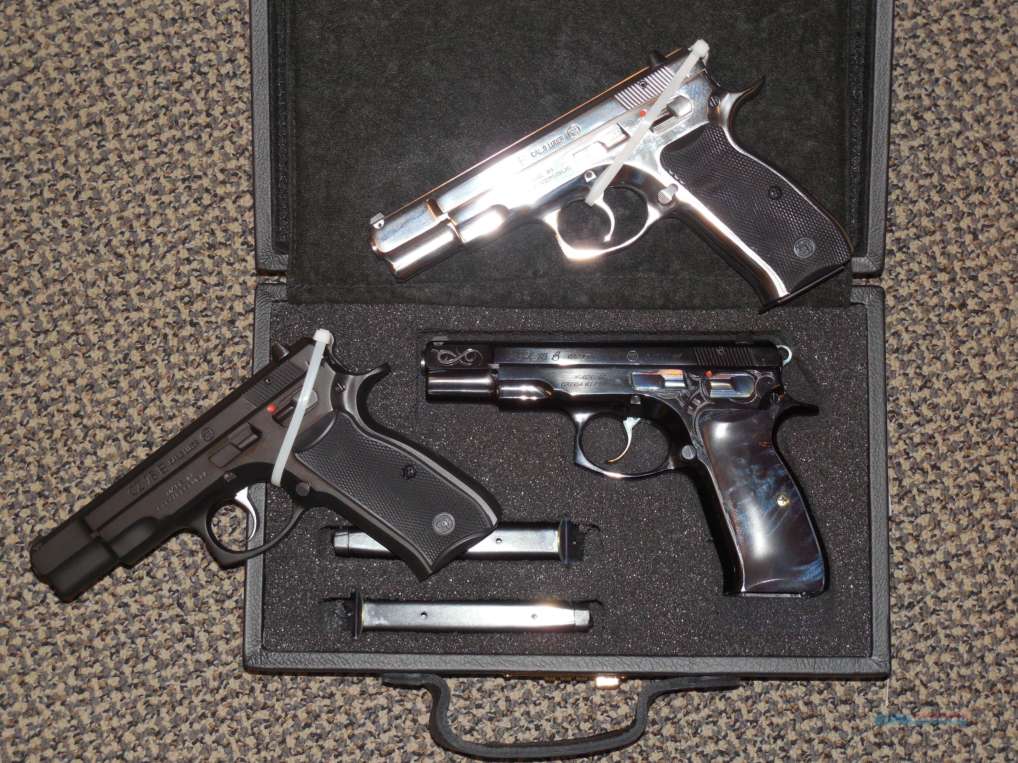 "CZ ""MINI COLLECTION"" WITH TRIO OF MODEL CZ-75's FOR ONE PRICE  Guns > Pistols > CZ Pistols"