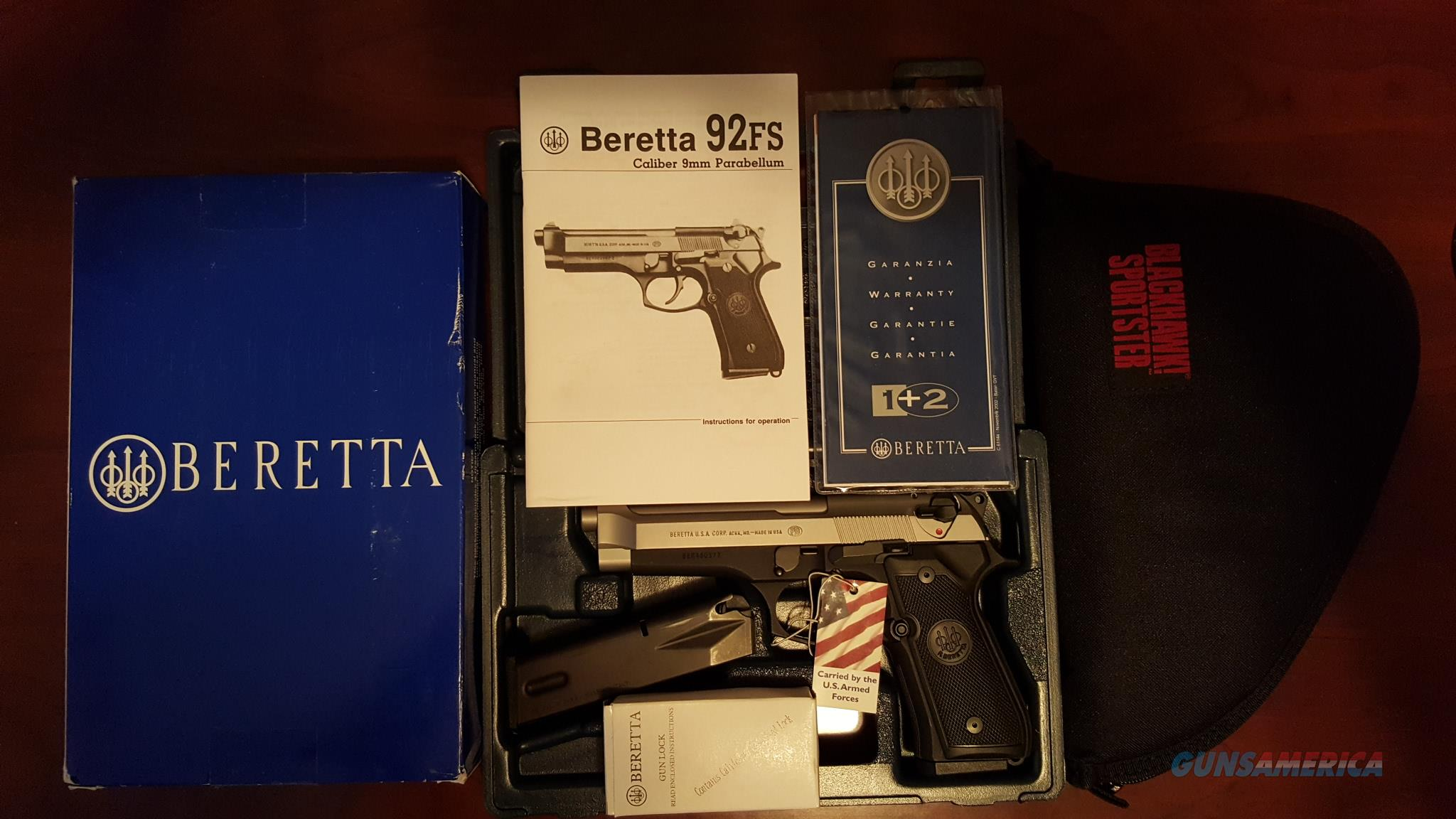 JS92F06 BERETTA 92FS 15+1 ROUND 9MM 2 TONE FINISH  Guns > Pistols > Beretta Pistols > Model 92 Series