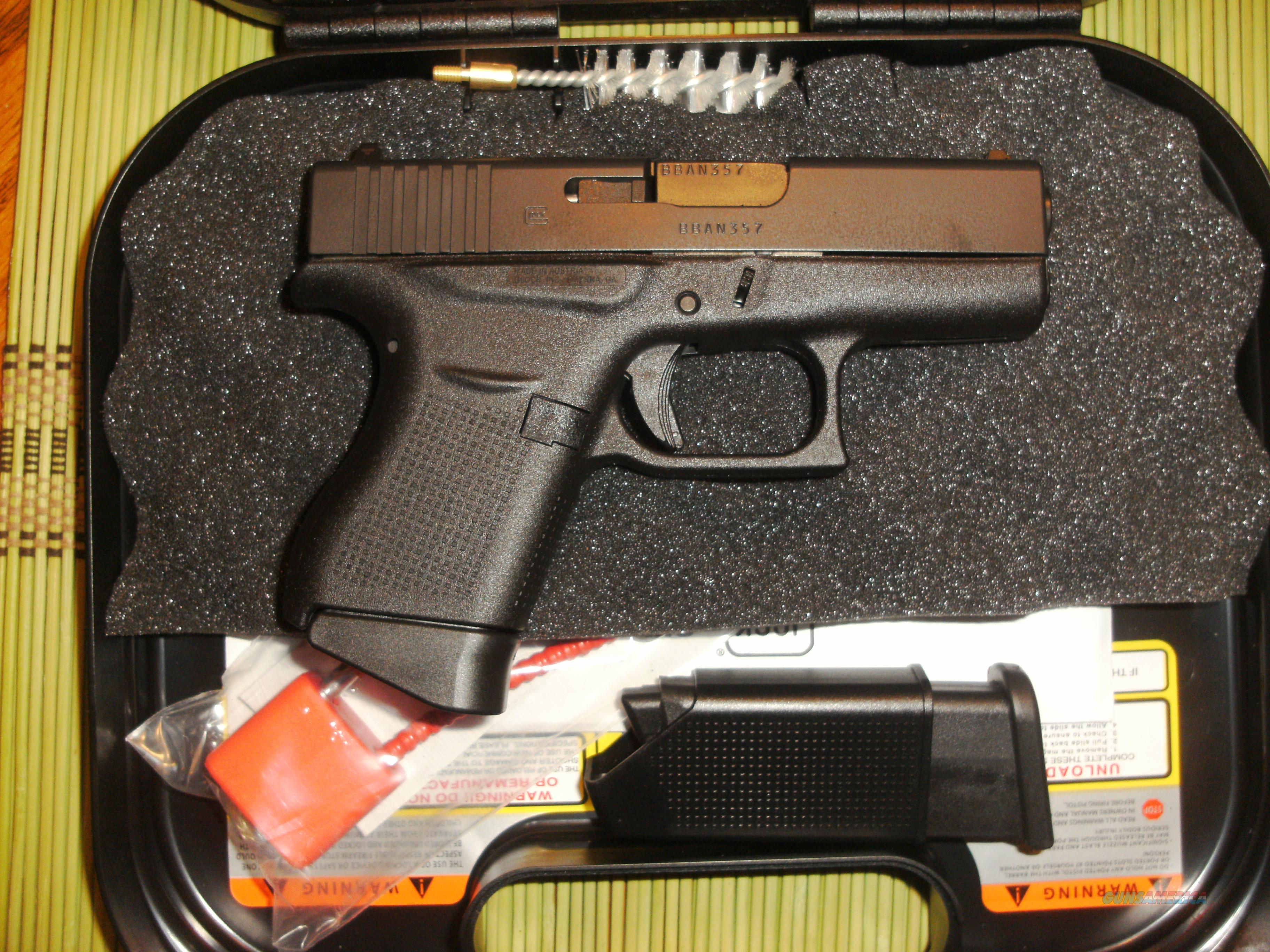 GLOCK 43 - NIB - POCKET 9MM - GREAT CCW PISTOL - FREE SHIPPING - ACT NOW! THESE SELL FAST! - TXPAT ARMORY LLC  Guns > Pistols > Glock Pistols > 43