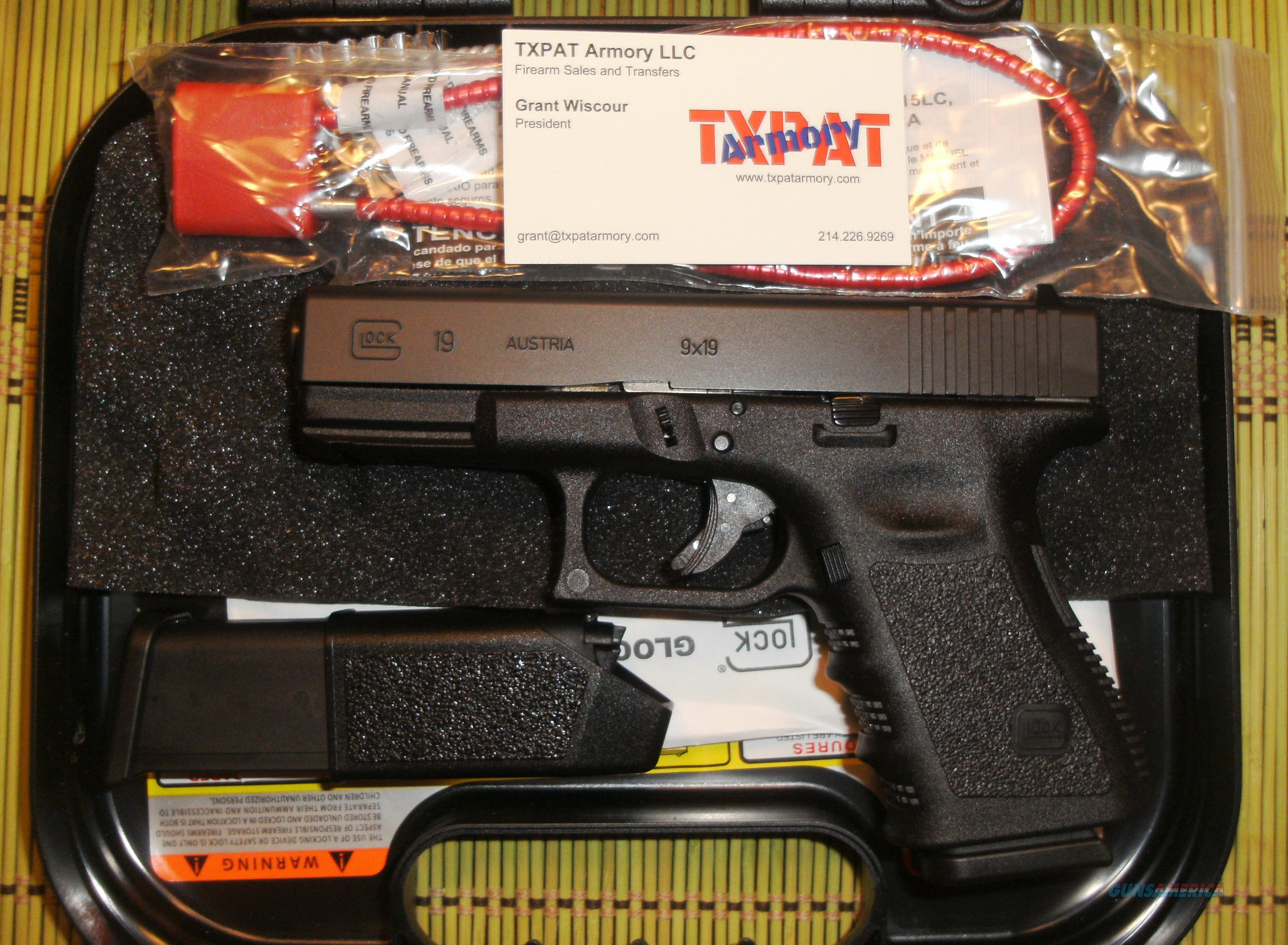 GLOCK 19 GEN 3 - NEW IN CASE WITH TWO MAGS - BUY IT NOW  Guns > Pistols > Glock Pistols > 19
