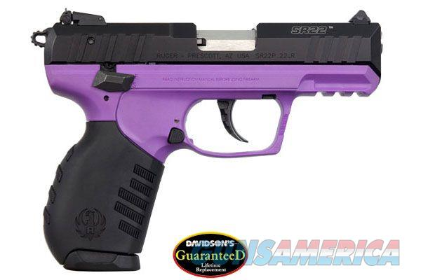 RUGER SR22 W/EXCLUSIVE LADY LILAC PURPLE FINISH - 2 TEN RD MAGS & ADJ SIGHTS - GREAT SHOOTER - FREE PRIORITY SHIPPING - TXPAT ARMORY LLC  Guns > Pistols > Ruger Semi-Auto Pistols > SR Family > SR22