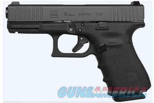 GLOCK 19 GEN 4 FRONT SERRATIONS - 3 15 RD MAGS, BACKSTRAPS, ETC - FREE SHIPPING  Guns > Pistols > Glock Pistols > 19