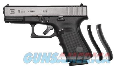 GLOCK 19 GEN 4 - NEW IN CASE - 3 MAGS, BACKSTRAPS, BRUSH/ROD, ETC.  FREE PRIORITY SHIPPING - TXPAT ARMORY LLC  Guns > Pistols > Glock Pistols > 19